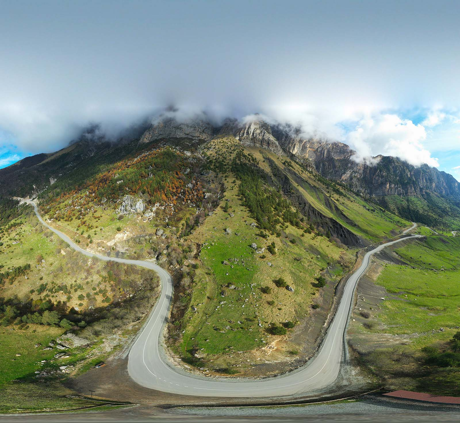 Ингушетия, Кавказ, Цей-Лоам, с высоты орлиного полёта, Борис Резванцев