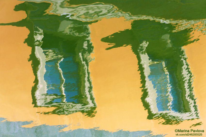 петербургские акварели, отражения на воде, акваабстракция, акваграфика, абстракция, парейдолия, мистический петербург, nikon, Павлова Марина