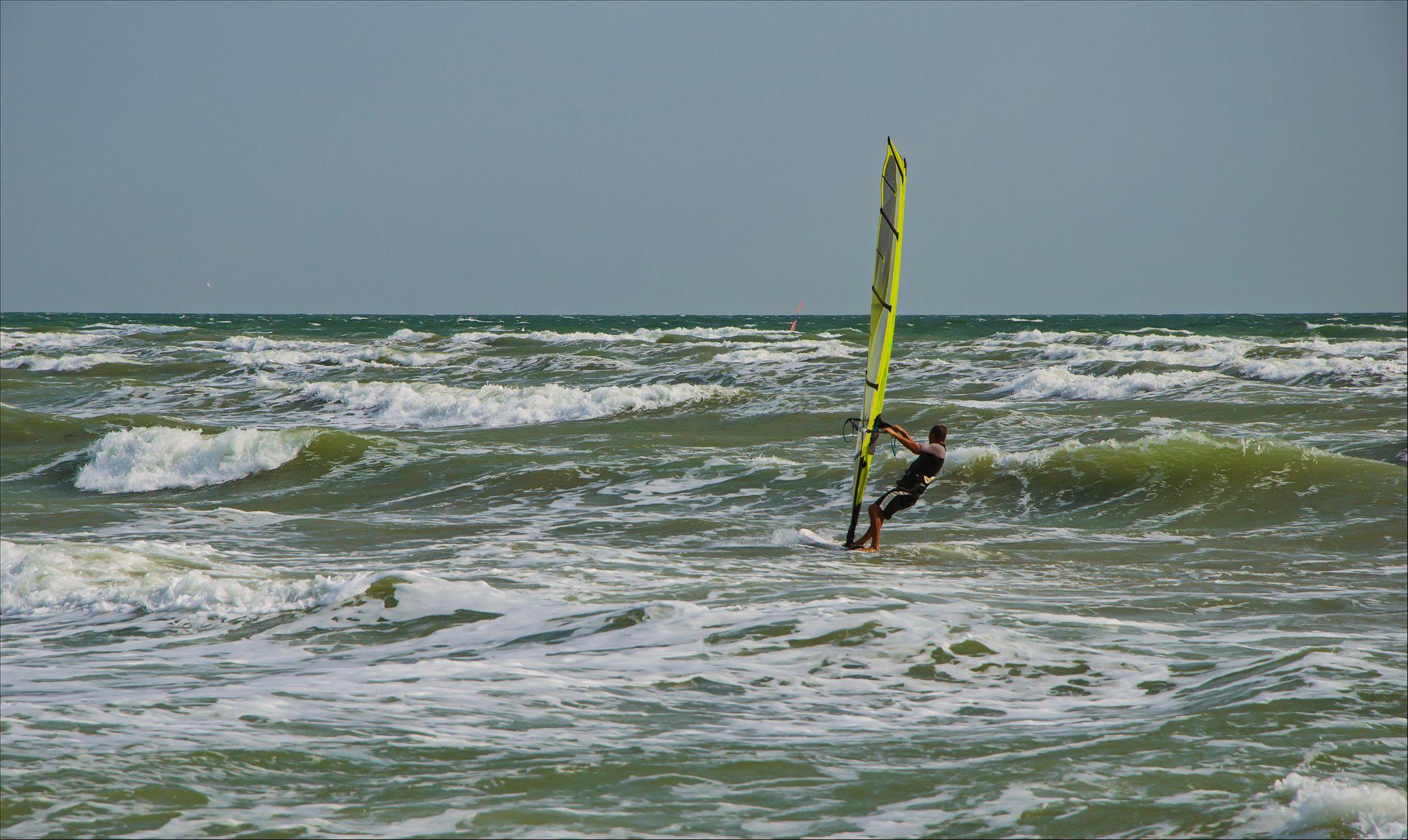 азов, море, парус, ветер, волна, Валерий Наумов