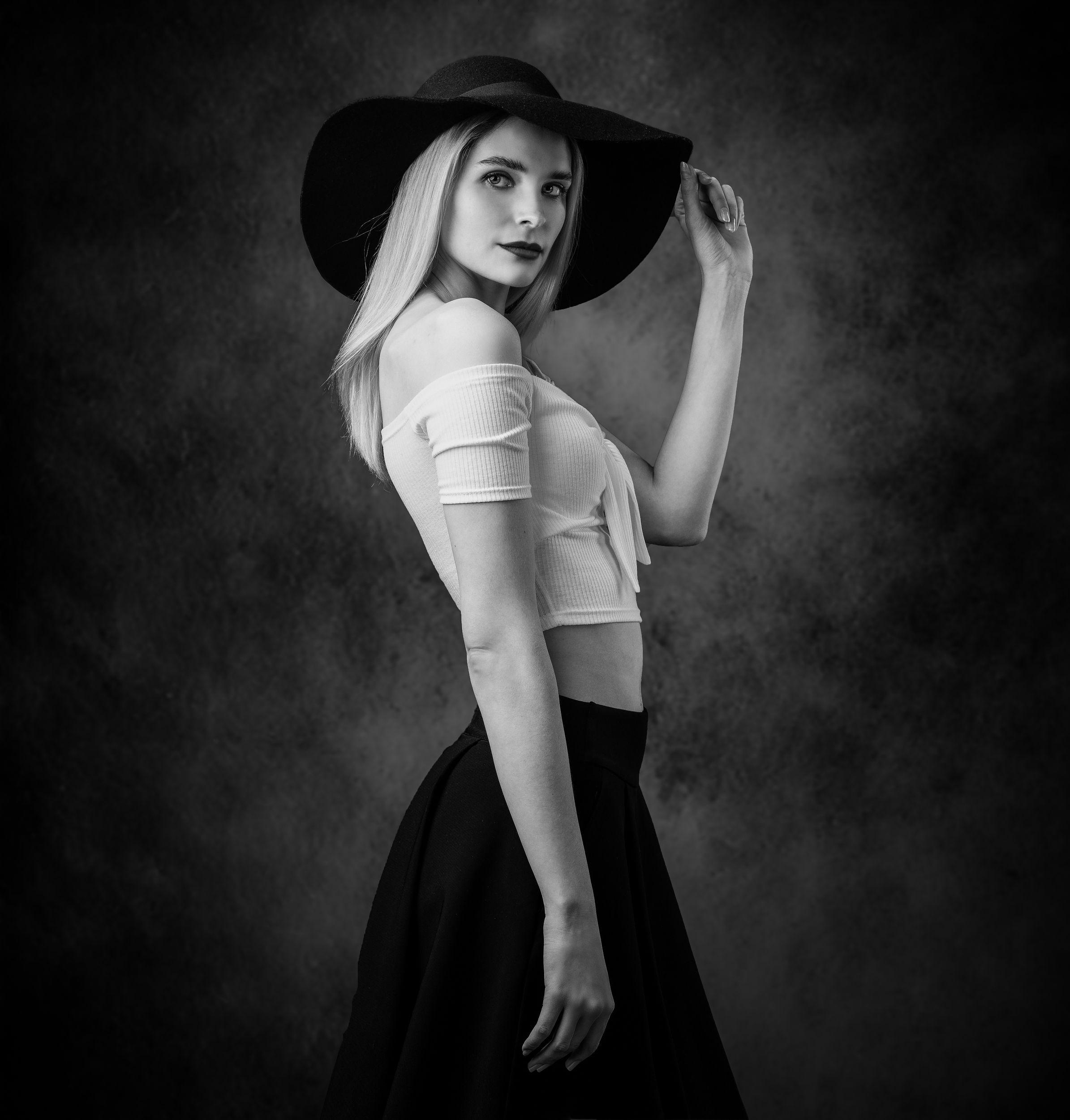 студийный портрет, красивая девушка, женский портрет, концептуальное, арт, чб, Бабаев Зураб