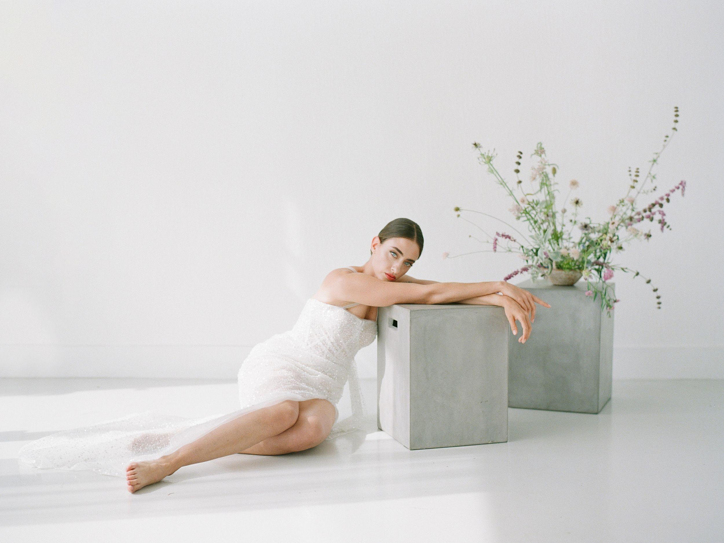 portrait, analogue, film, contax645, kodak, richardphotolab, fashion, minimal, Boseva Radostina