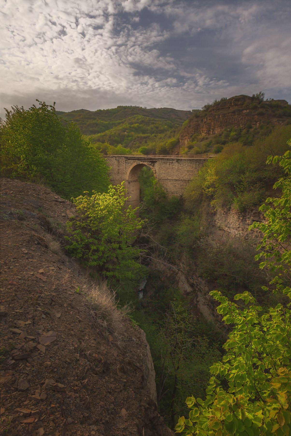 дагестан, мост, вечер, горы, Шишкин Дмитрий