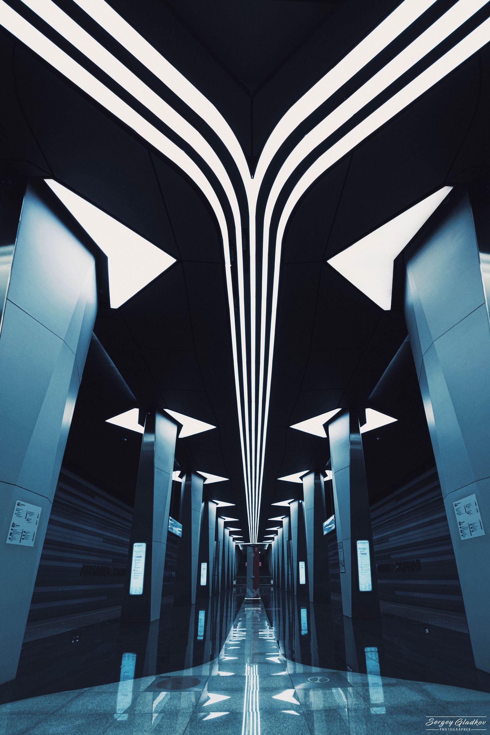 geometry, lines, subway, underground, metro, light, architecture, city, urban, Moscow, Russia , Гладков Сергей