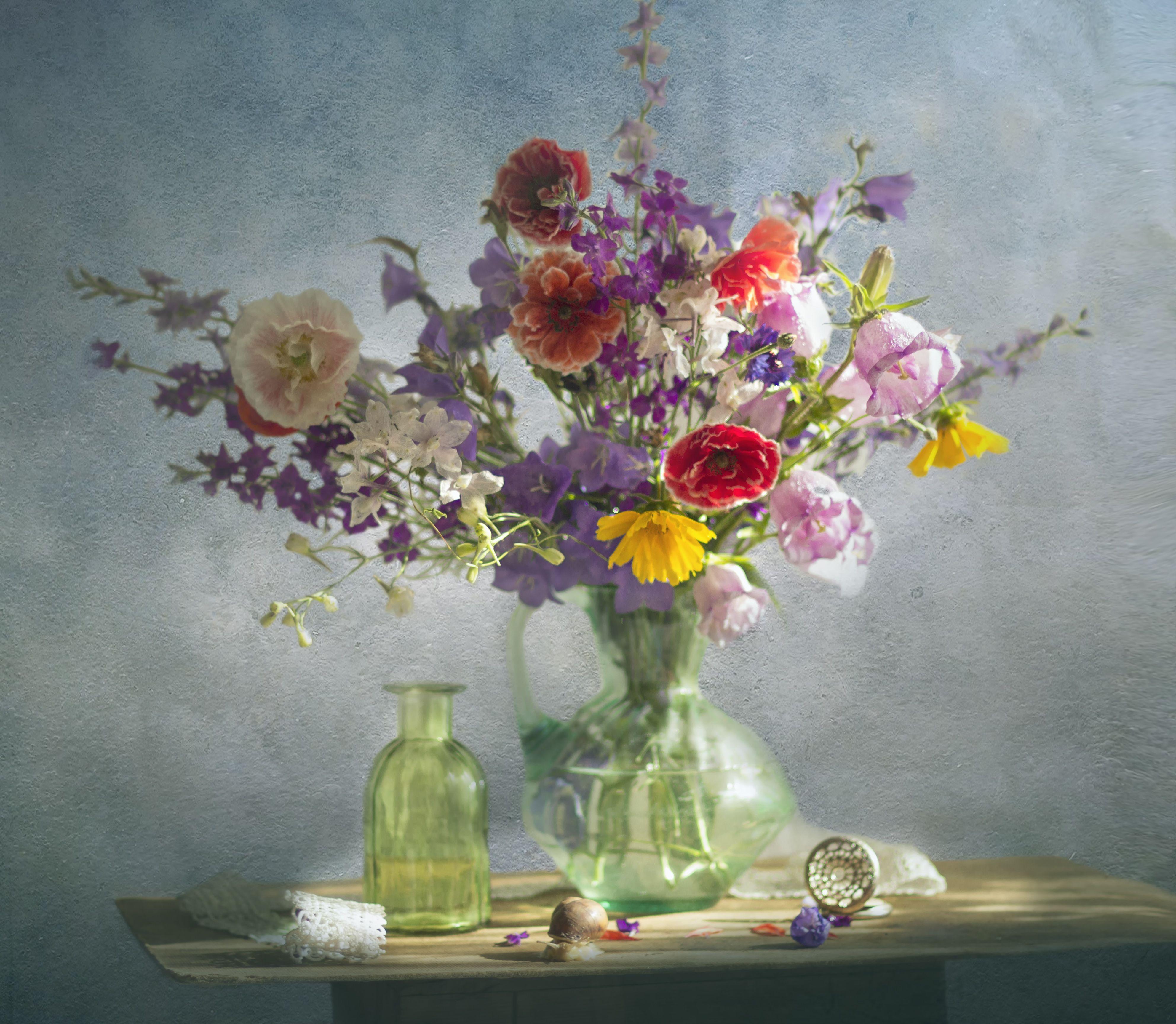 букет цветов, натюрморт, лето, Зимина Лионелла