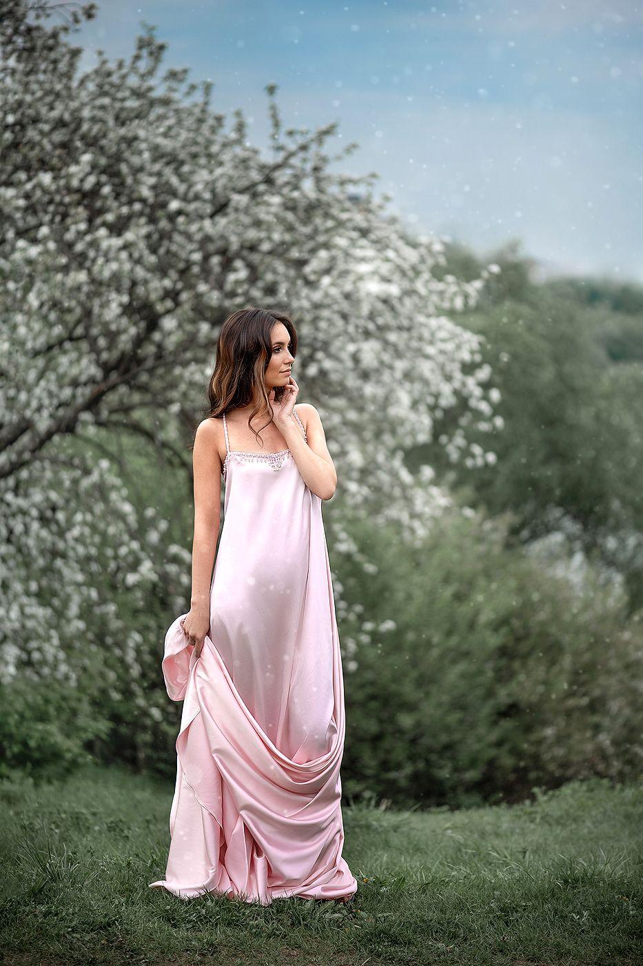портрет девушка женский портрет яблонивцвету, Соловьёва Елена