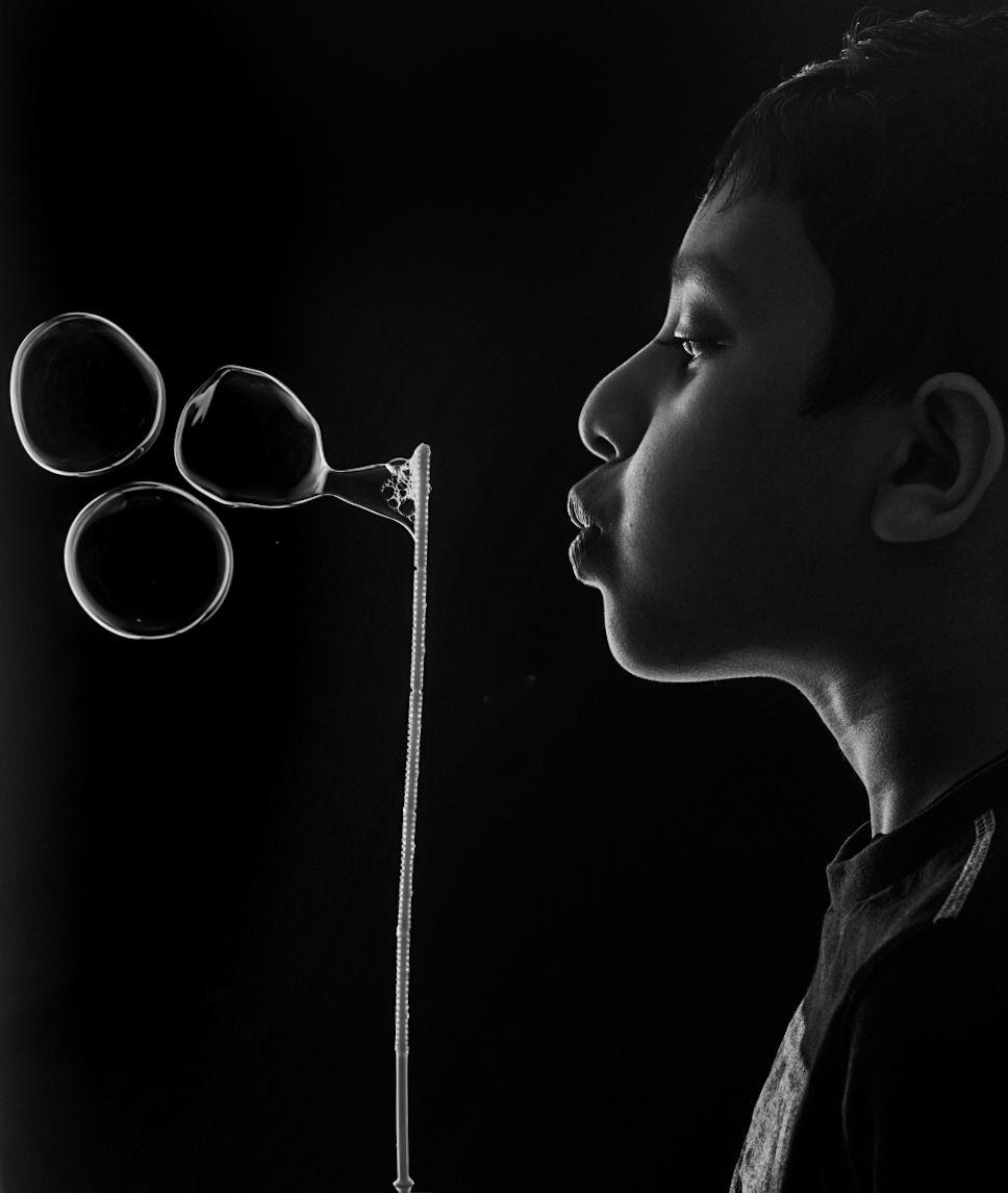 #childplay #bubbles#blackandwhitefinewrt, Krishnadas M R