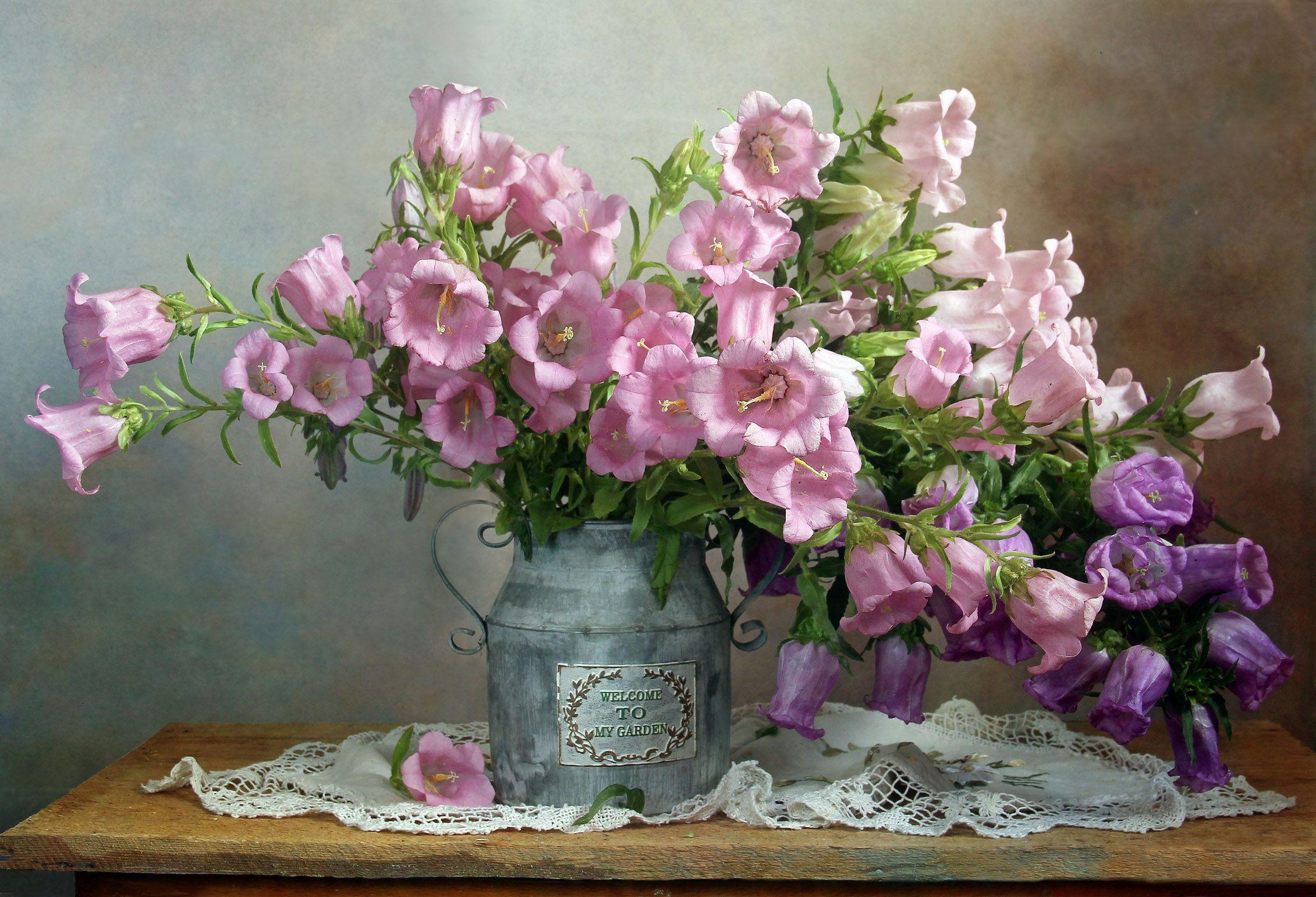 лето,  цветы, натюрморт, марина филатова, колокольчики, Филатова Марина