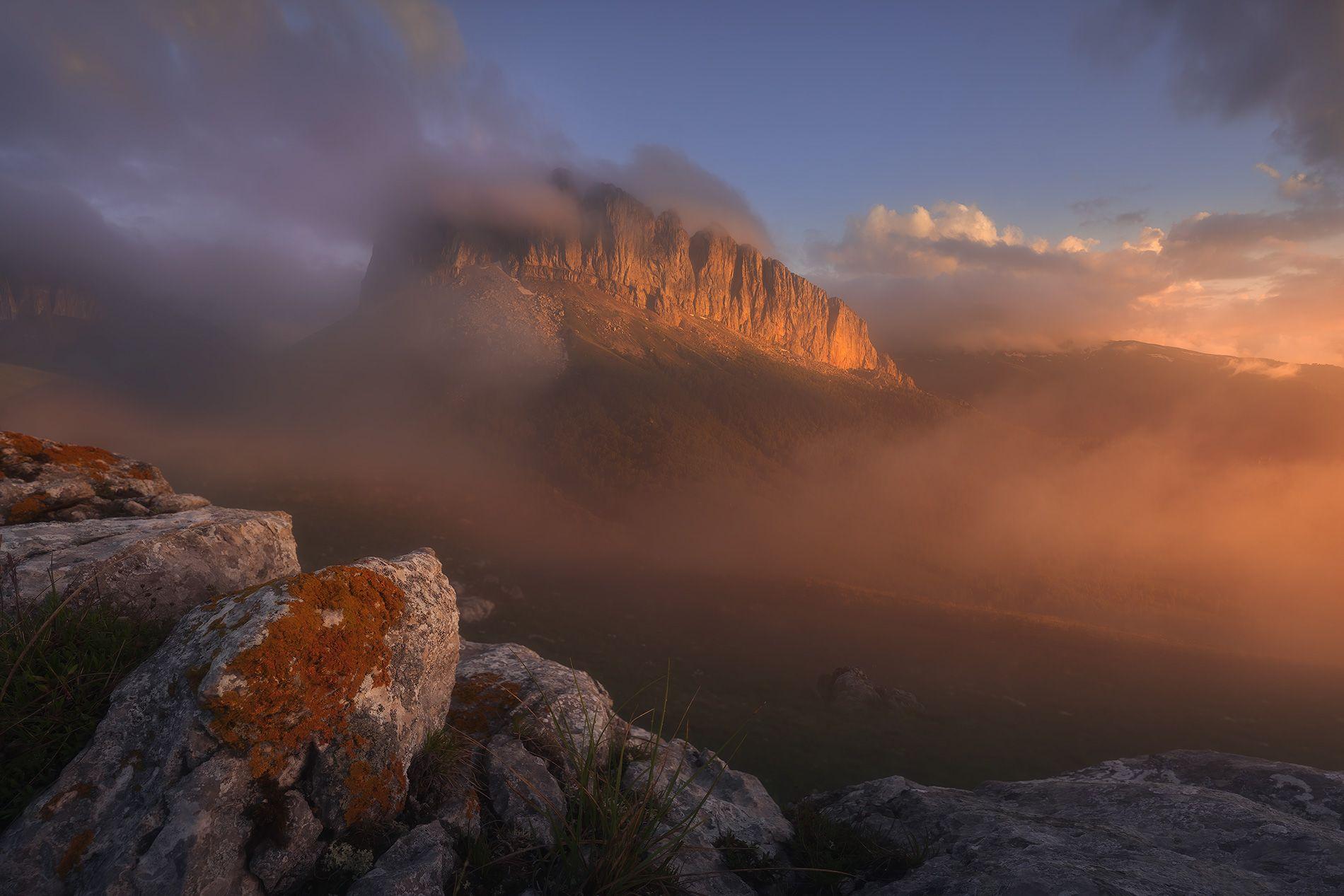 горы, закат, пейзаж, кавказ, Дударев Александр