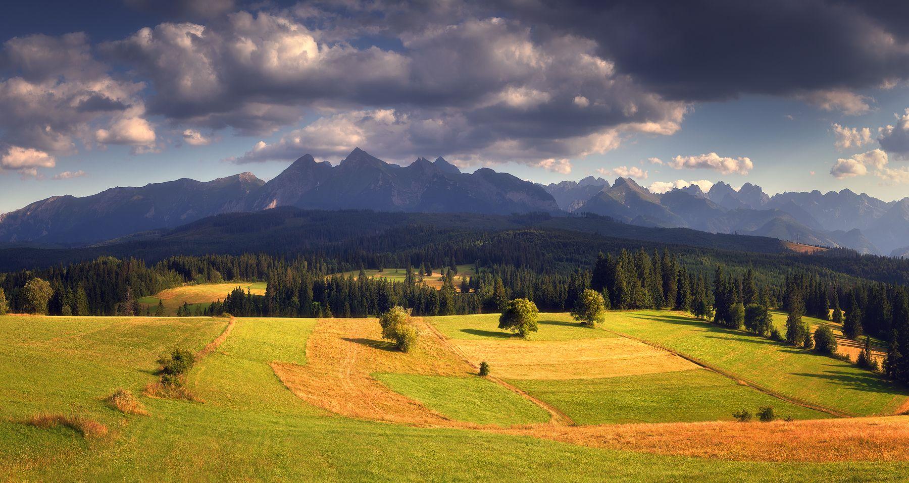 панорама, татры, горы, вечер, польша, Евгений Матюшенков