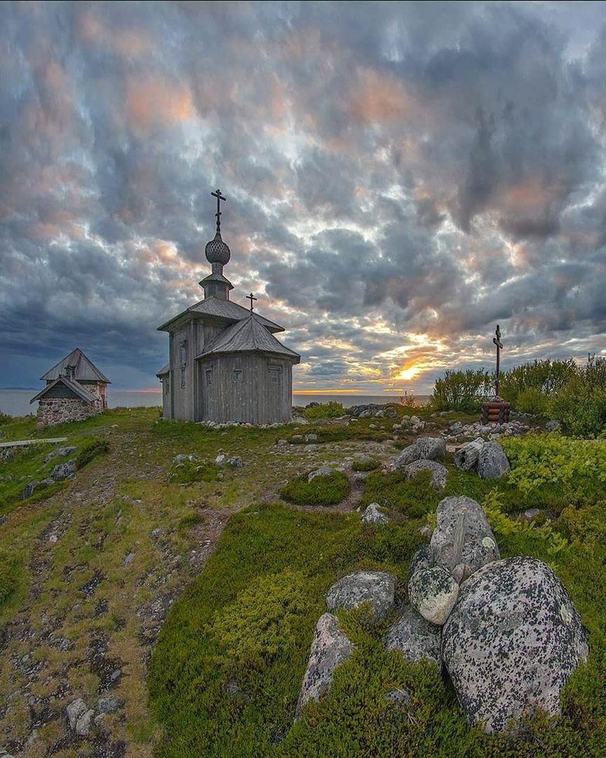 соловки, церковь, закат, белоеморе, остров, Петр Косых