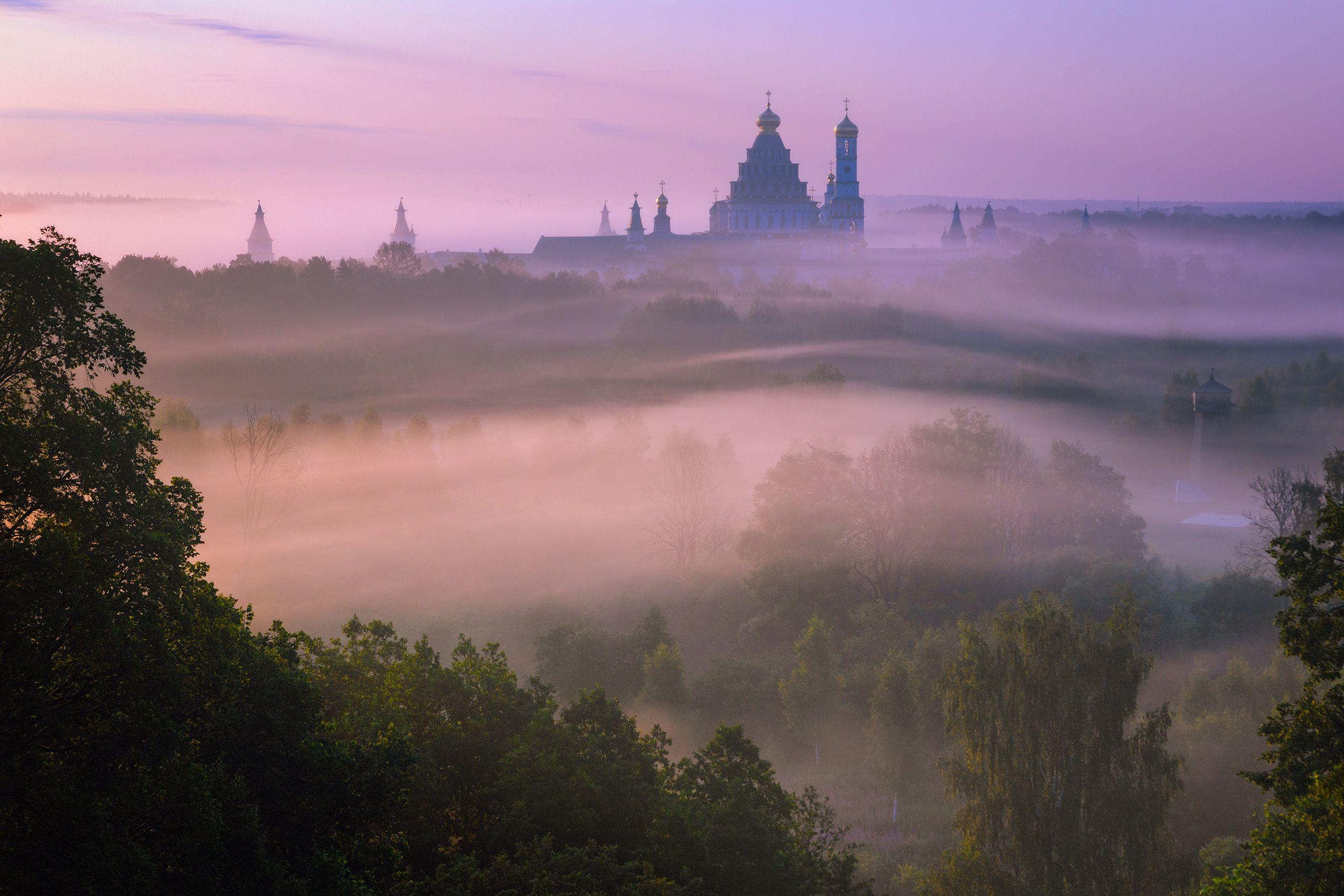 туман, храм, утро, подмосковье, истра, Стрельчук Александр