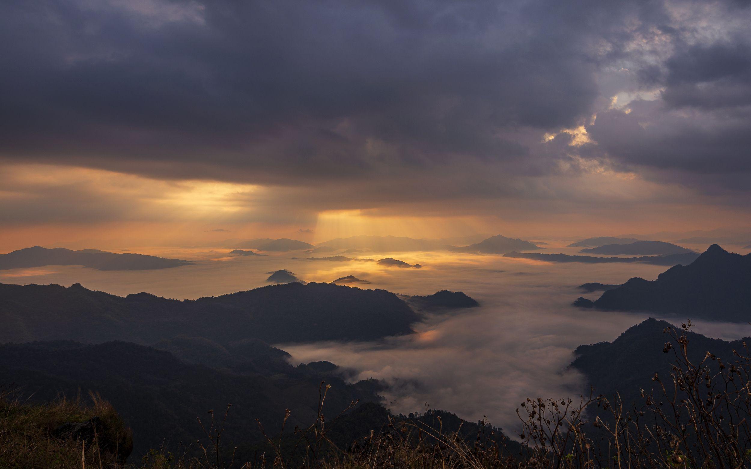 пейзаж, таиланд, пху чи фа, landscape, thailand, mountains, Токарев Олег
