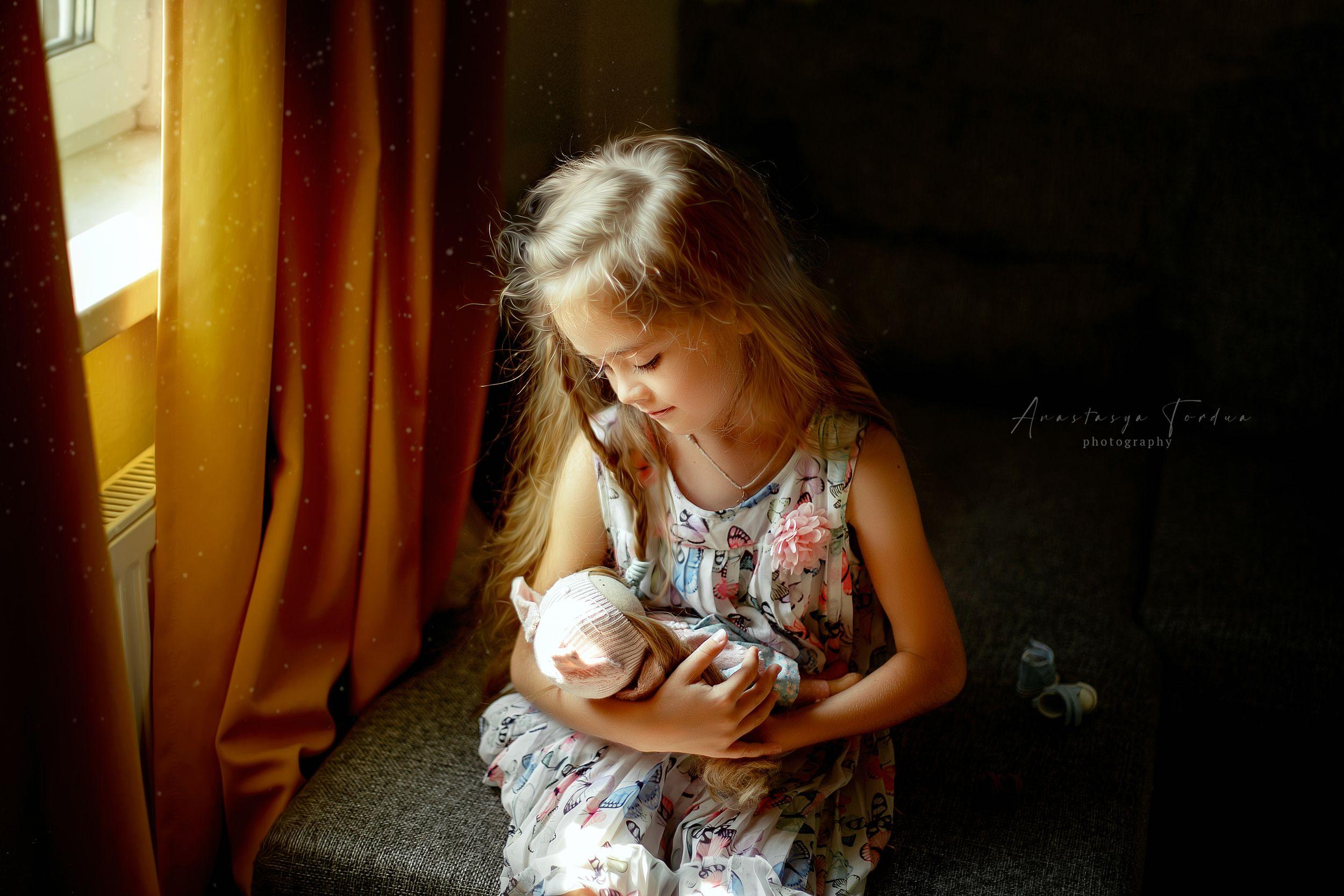 девочка детскаяфотография домашнеефото кукла, Анастасия Тордуа