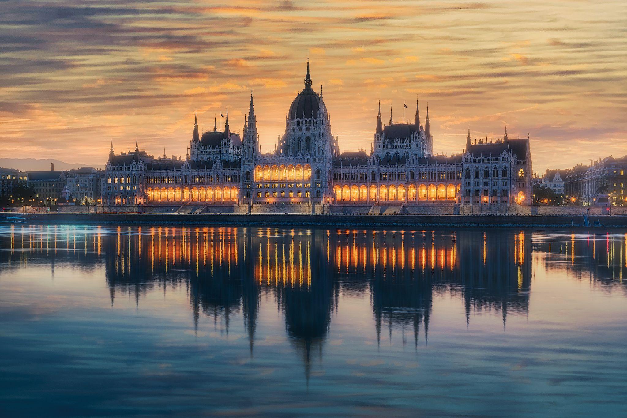 budapest, sunrise, Daut Remo