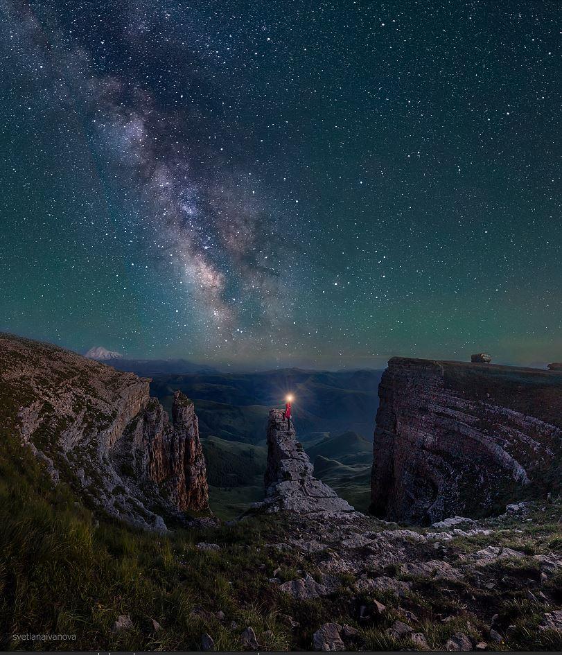 бермамыт, млечный путь, ночь, кавказ, звезды, Иванова Светлана