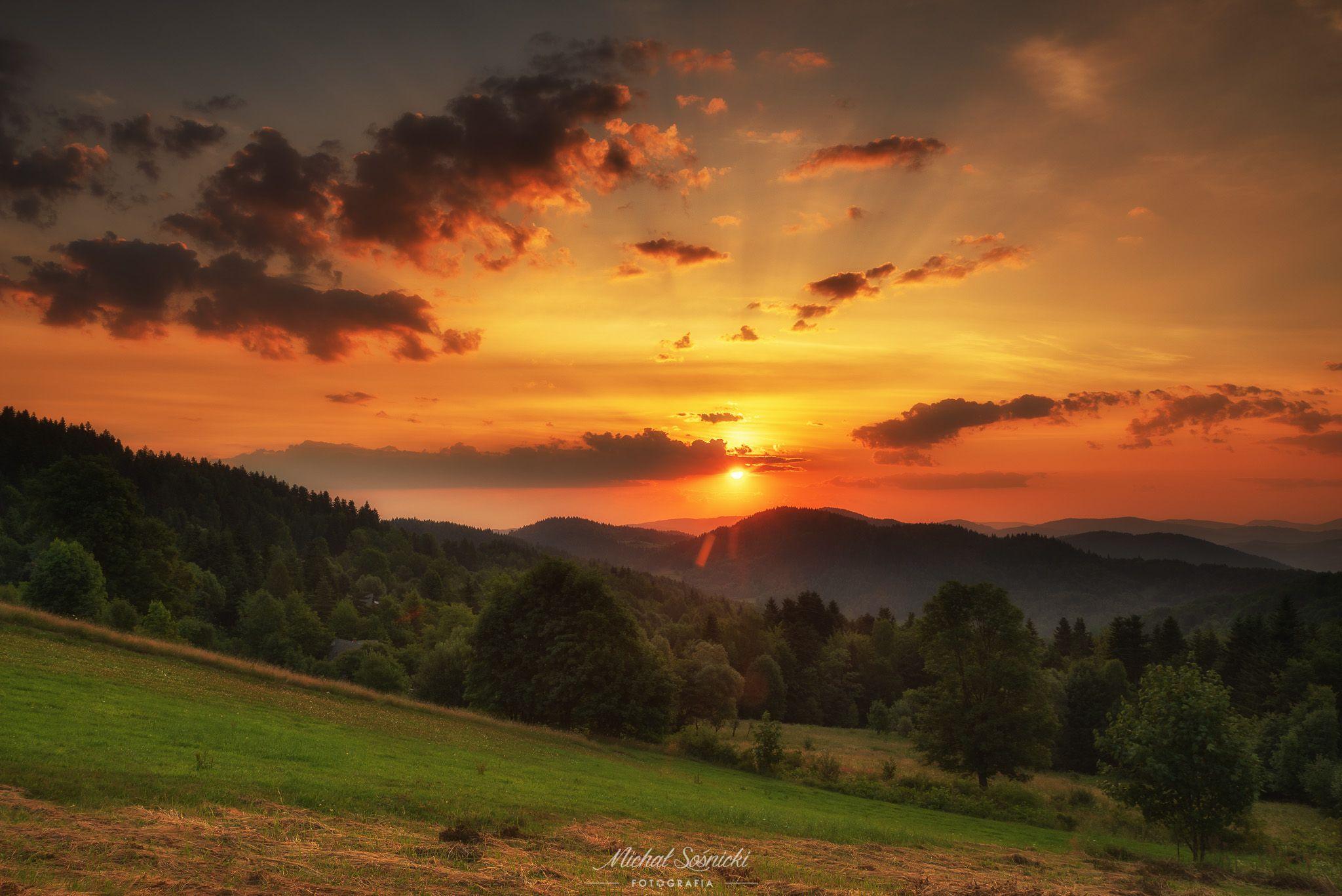 #sunrise #poland #summer #zawoja #pentax #benro #sky #clouds, Sośnicki Michał