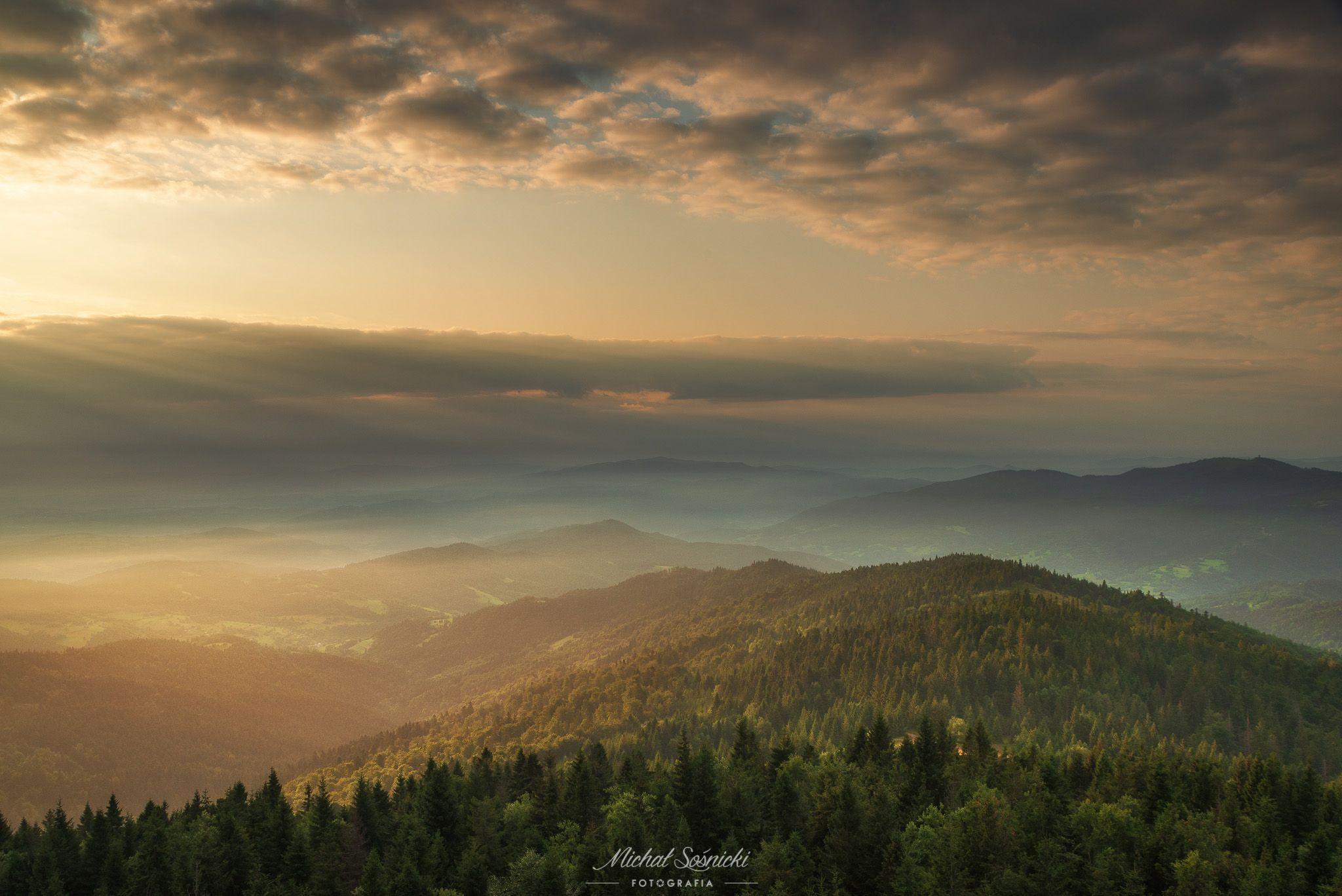 #sunrise #poland #summer #gorc #pentax #benro #sky #clouds #mountains, Sośnicki Michał