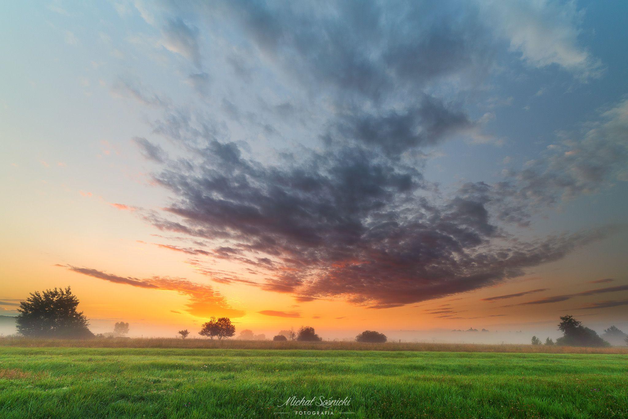 #poland #summer #morning #sunrise #pentax #benro #sky #best #nature, Sośnicki Michał