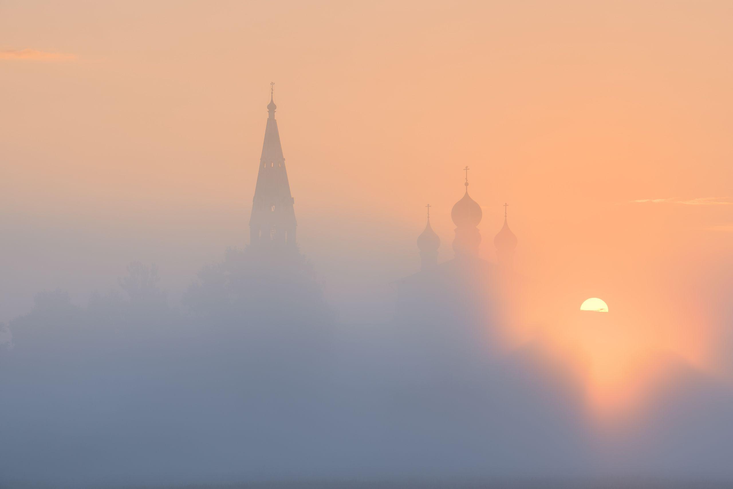 осенево, утро, туман, рассвет, восход, Максим Евдокимов (phototourtravel.ru)