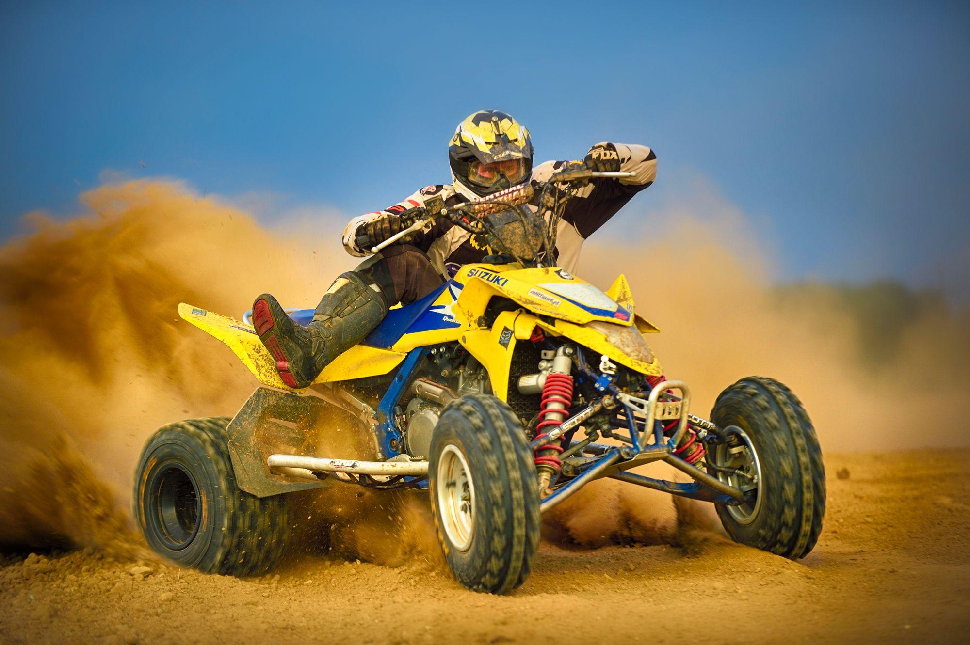 quad bike, sport, racing, sports, sand, dust, Hudzik Roman
