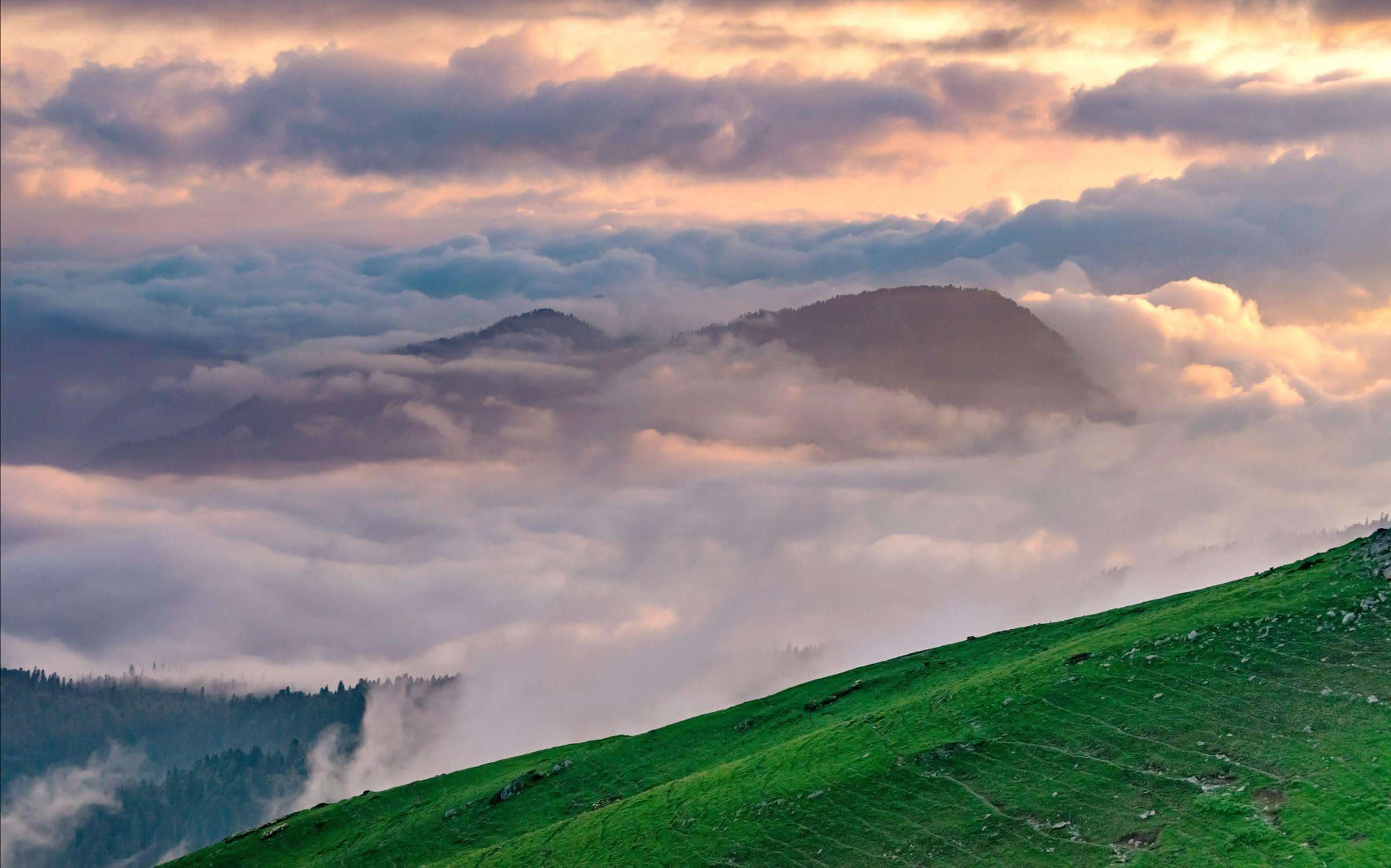 кавказ, горы, свет, облака, Исаков Дмитрий