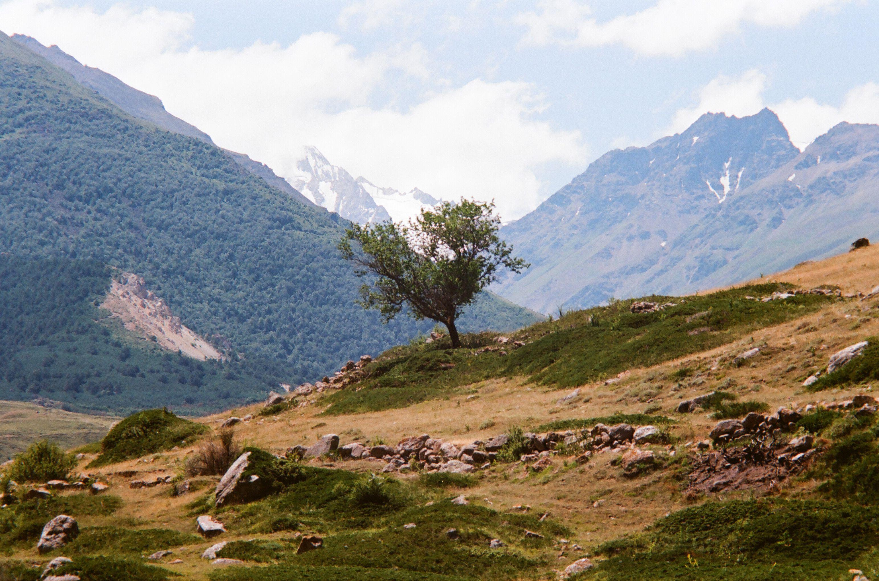 mountains sky clouds plateau rage landscape  rock caucasus, Бугримов Егор
