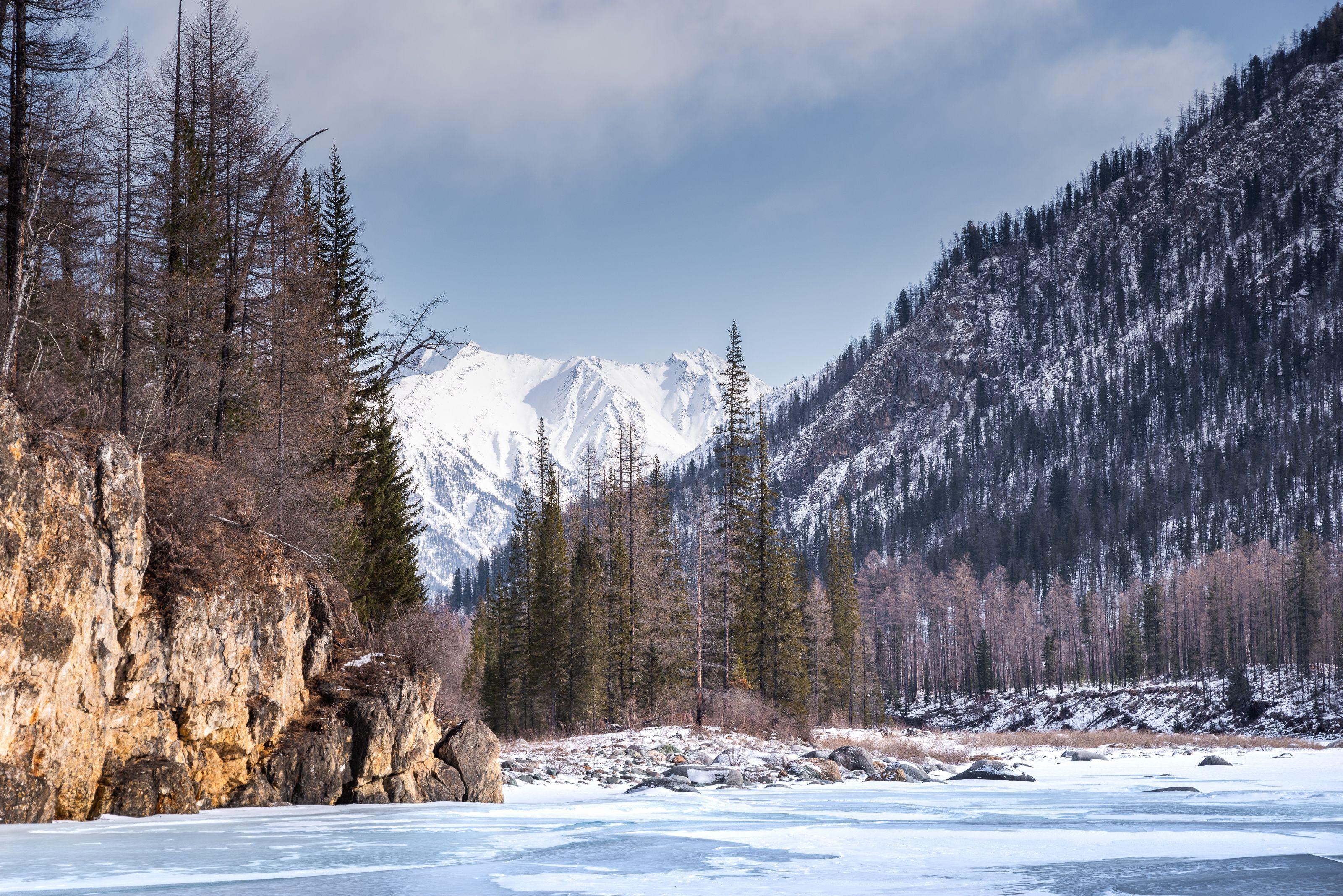 Саяны, Тунки, Тункинские гольцы, горы, зима, Evgeniy Khilkevitch