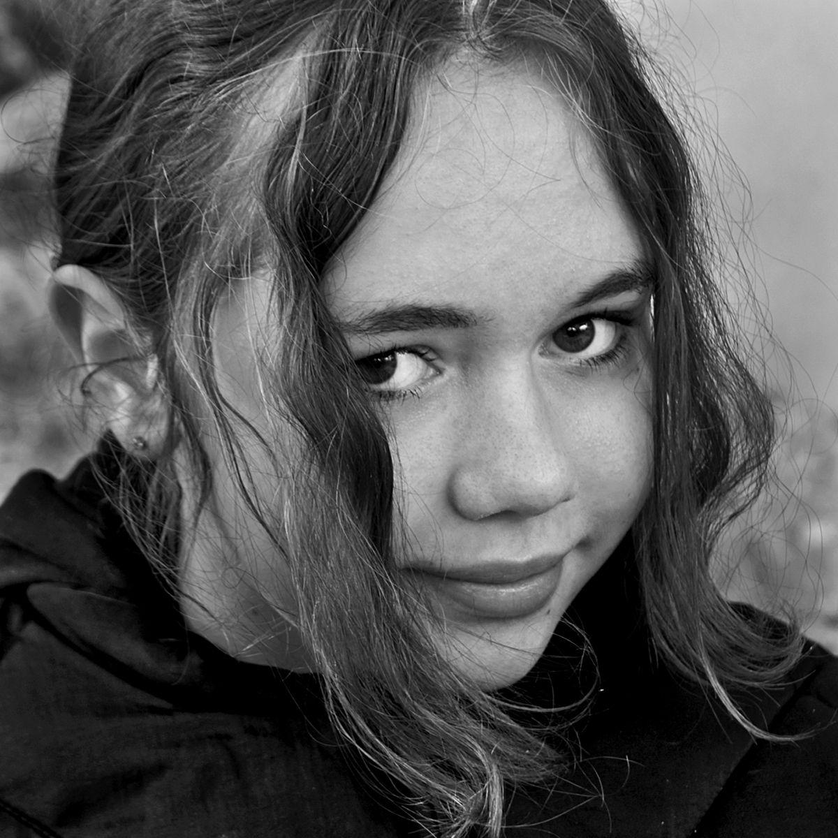 девушка, портрет, глаза, взгляд, волосы, чб, апатиты, мончегорск, Николай Смоляк