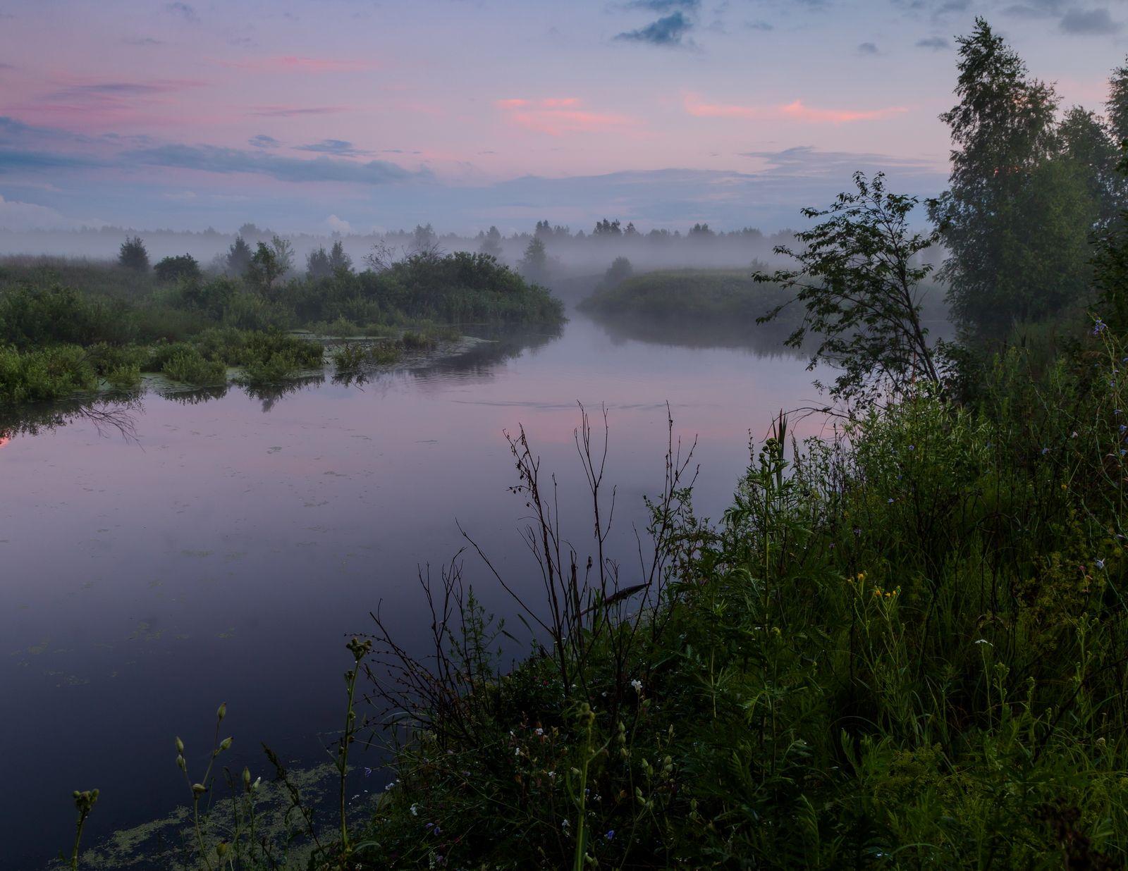 туман, ночь, Морозов Юрий