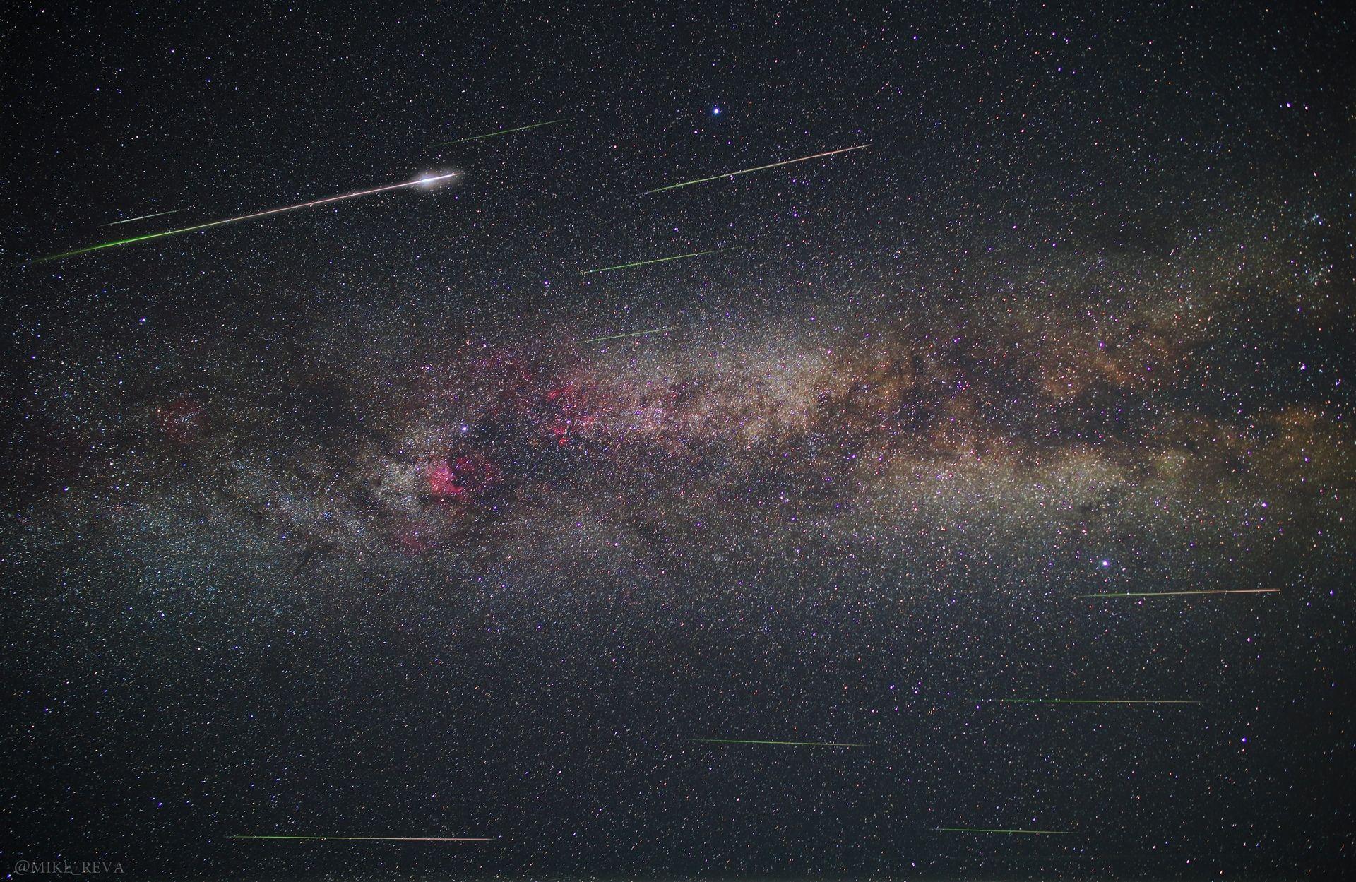 ночь звезды ночной пейзаж астрофотография, Рева Михаил