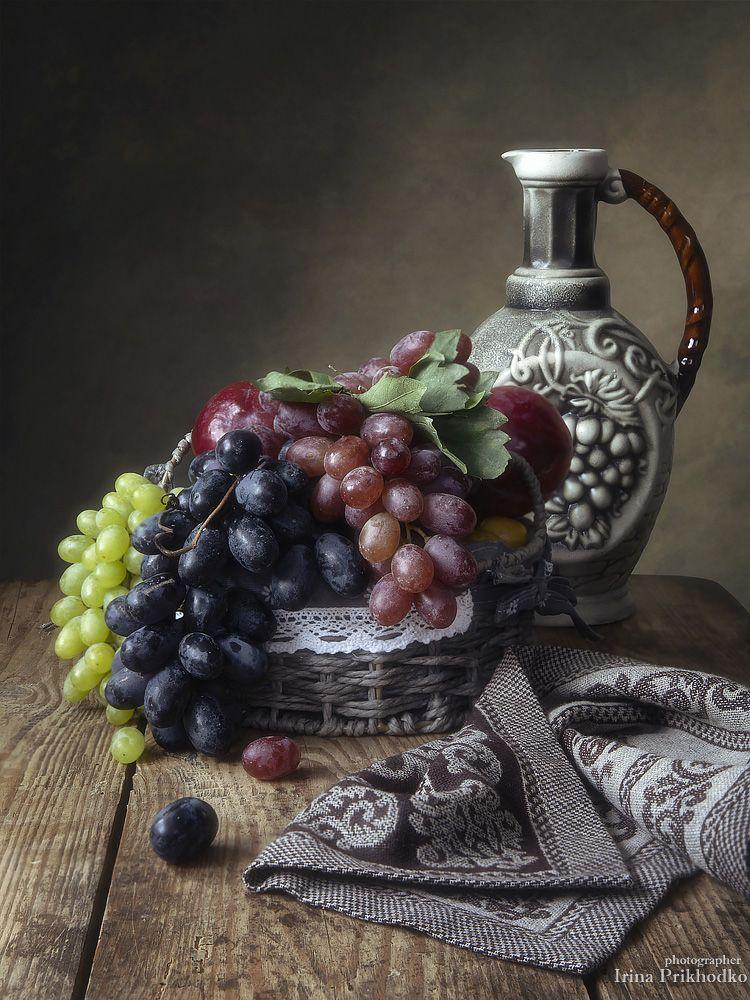 натюрморт, фрукты, виноград, винтажный, Приходько Ирина