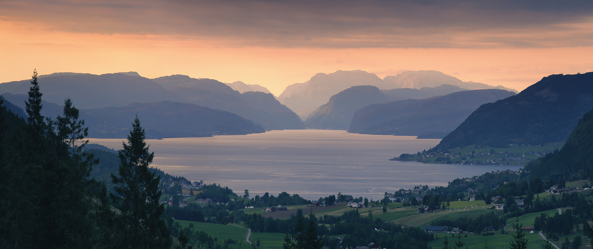 панорама, фьорд, норвегия, лето, вечер, Евгений Матюшенков