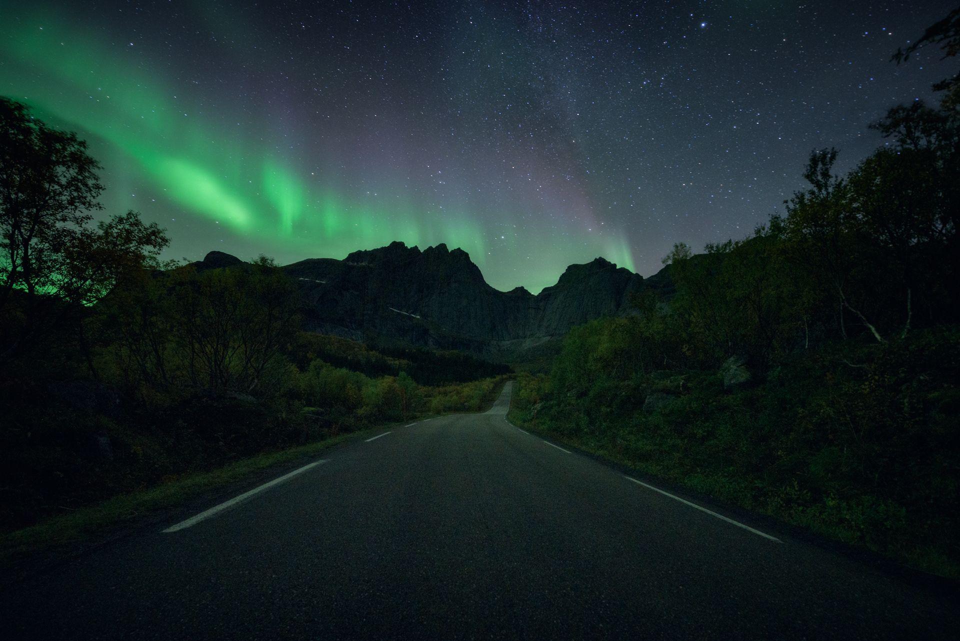 норвегия, северное сияние, пейзаж, Виноградов Дмитрий