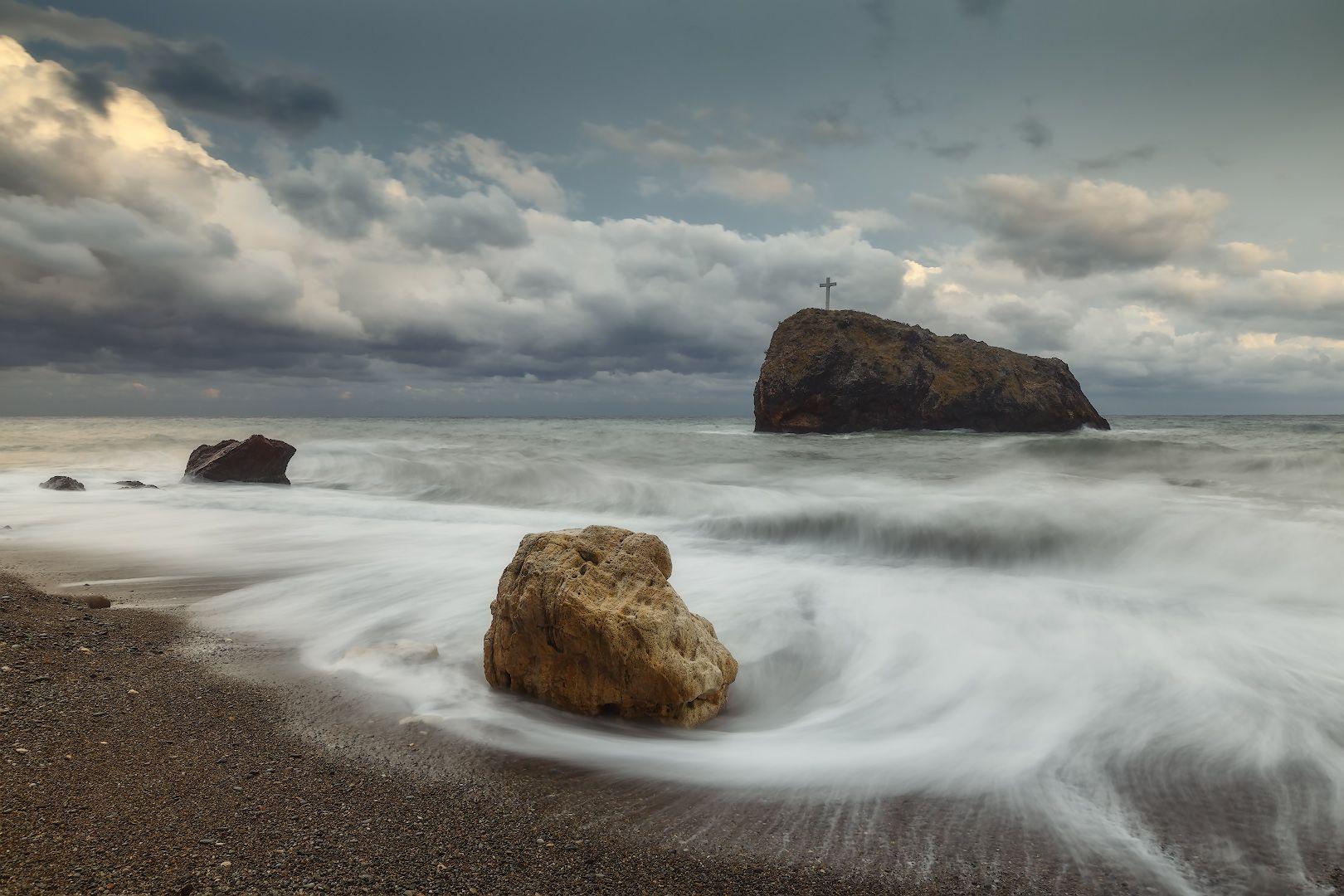 севастополь, море, шторм, закат., Дубинин Владимир
