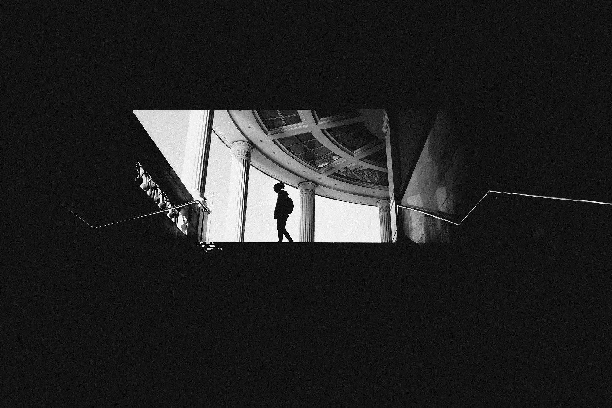 архитектура, контраст, черно-белое, портрет, Ревинна Даша