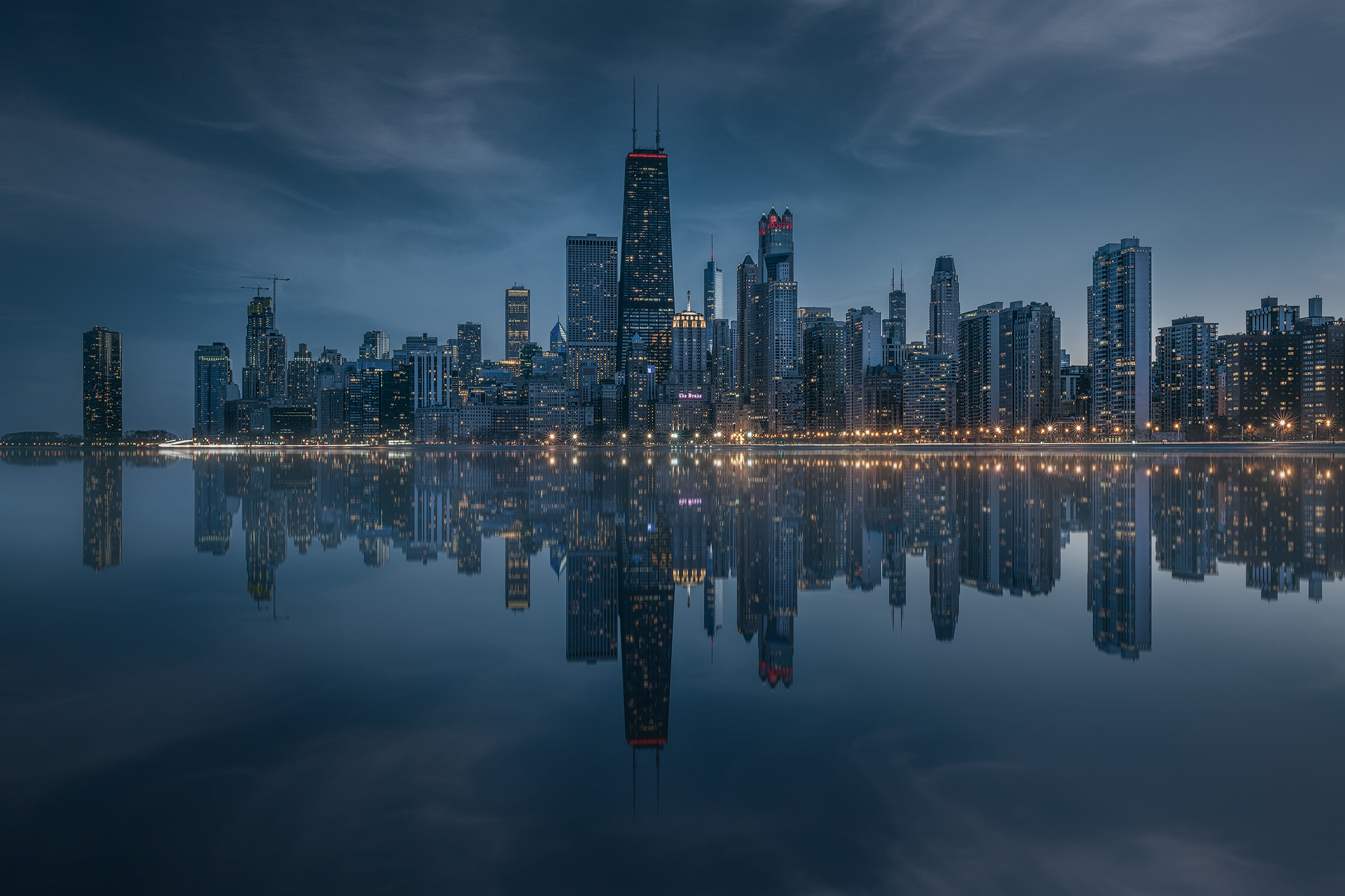 chicago, reflections, skyline, Daut Remo