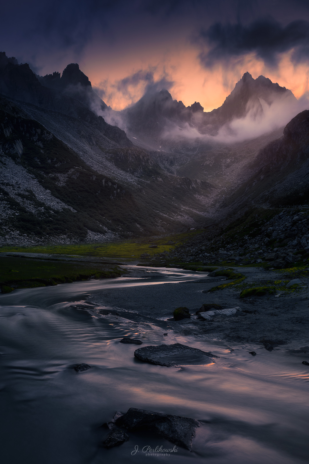 dusk, alps, mountains, Perlikowski Jakub