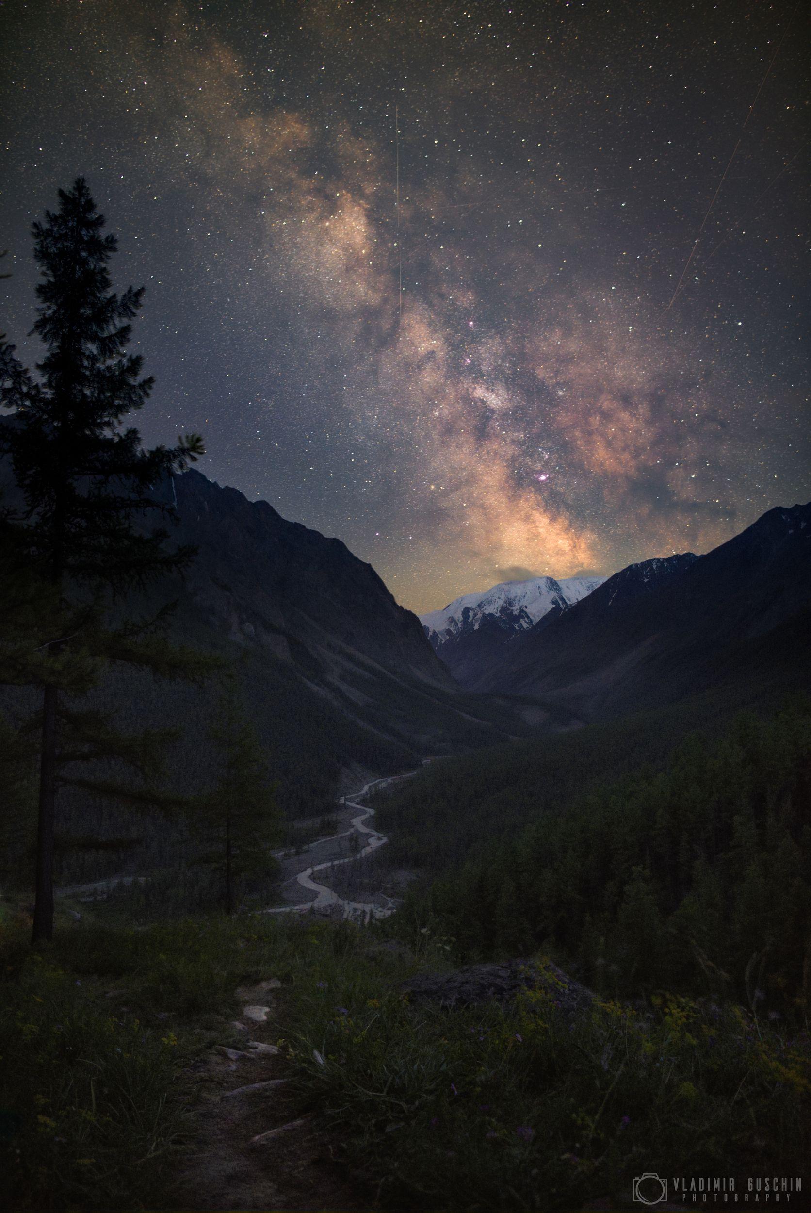 млечный путь, астрофотография, ночь, алтай, горный алтай, Гущин Владимир