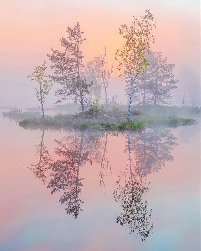 Рассвет, утро, туман, Петр Косых
