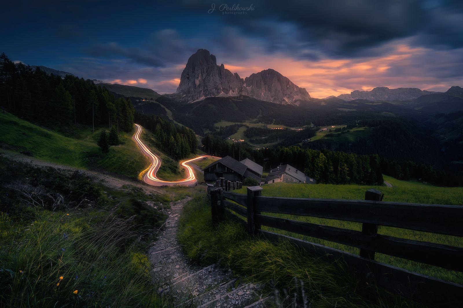 alps, long exp, long exposure, mountains, lights, lighttrails, Perlikowski Jakub