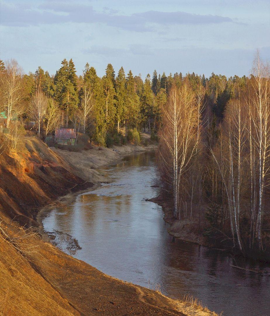 Весна, закат, река, Петр Косых
