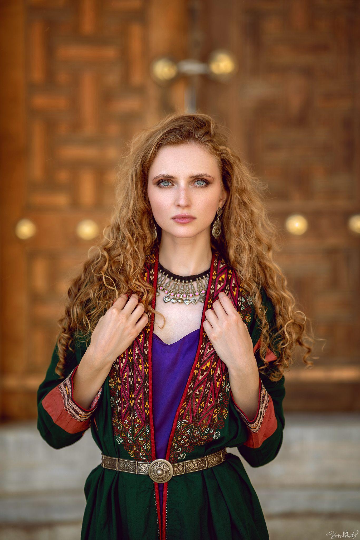 85mm, pretty, woman, portrait, eyes, Алтындал Каан