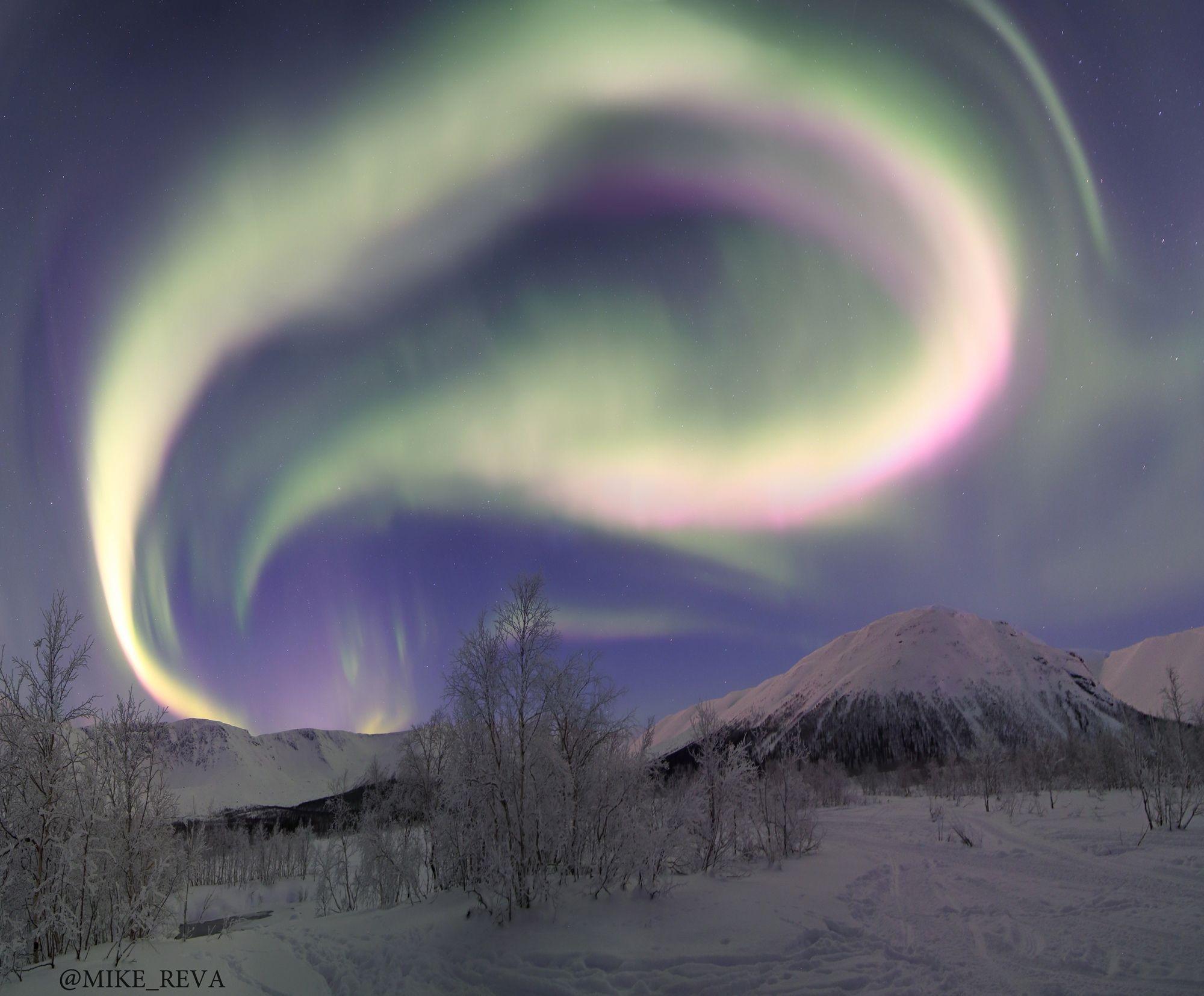 ночь звезды северное сияние ночной пейзаж астрофотография хибины, Рева Михаил
