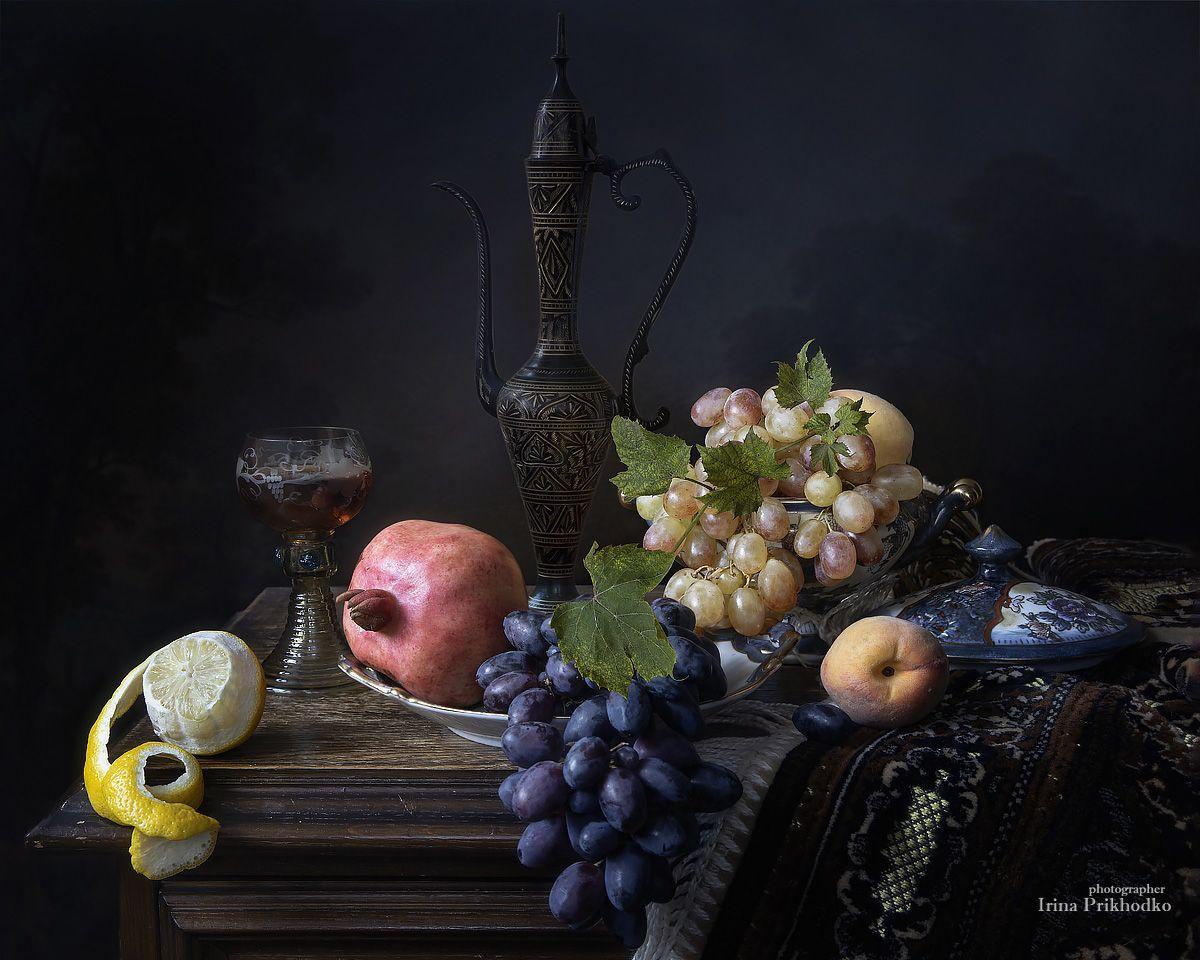 натюрморт, ренессанс, винтаж, фрукты, вино, Приходько Ирина