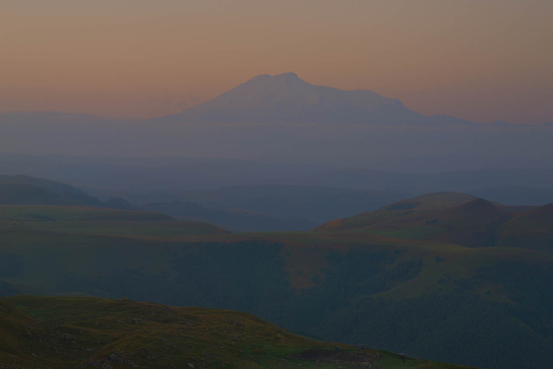 горы рассвет эльбрус, Александр Жарников