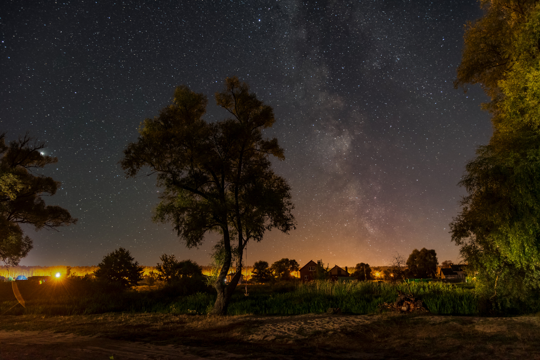ночь, млечный путь, титовка, шебекино, река нежеголь, Литвишко Александр