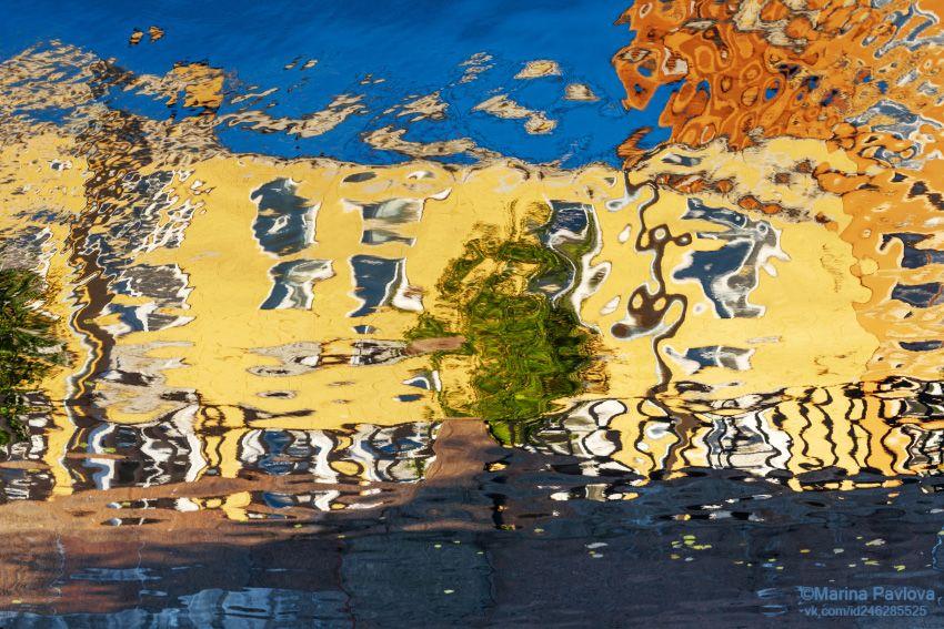город, петербург, абстракция, акваабстракция, акваграфика, отражение на воде, парейдолия, петербургские акварели, nikon, Павлова Марина