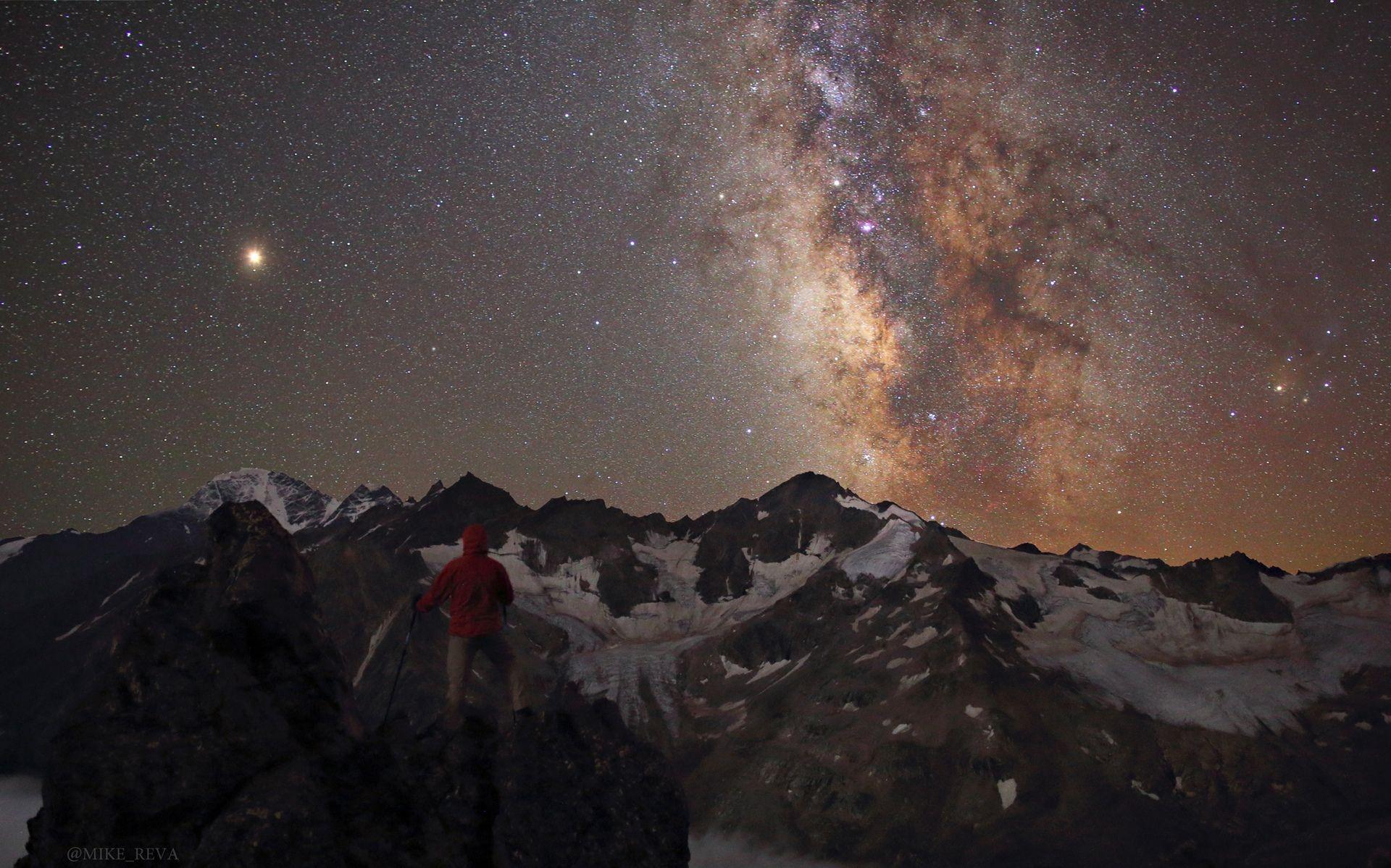 ночь ночной пейзаж астрофотография звезды созвездия, Рева Михаил