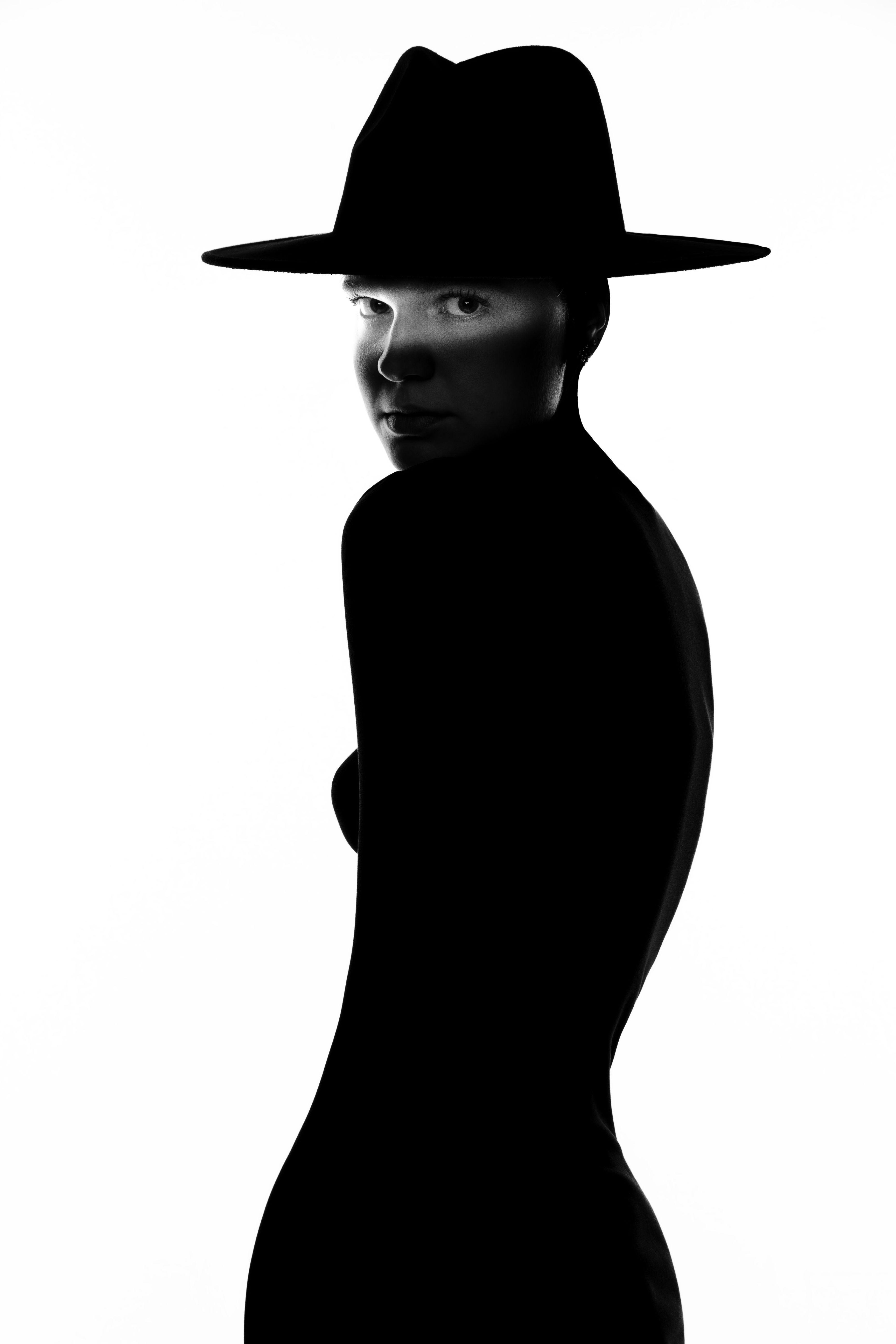 девушка портрет гламур мода фэшн шляпа силуэт, Юдин Сергей
