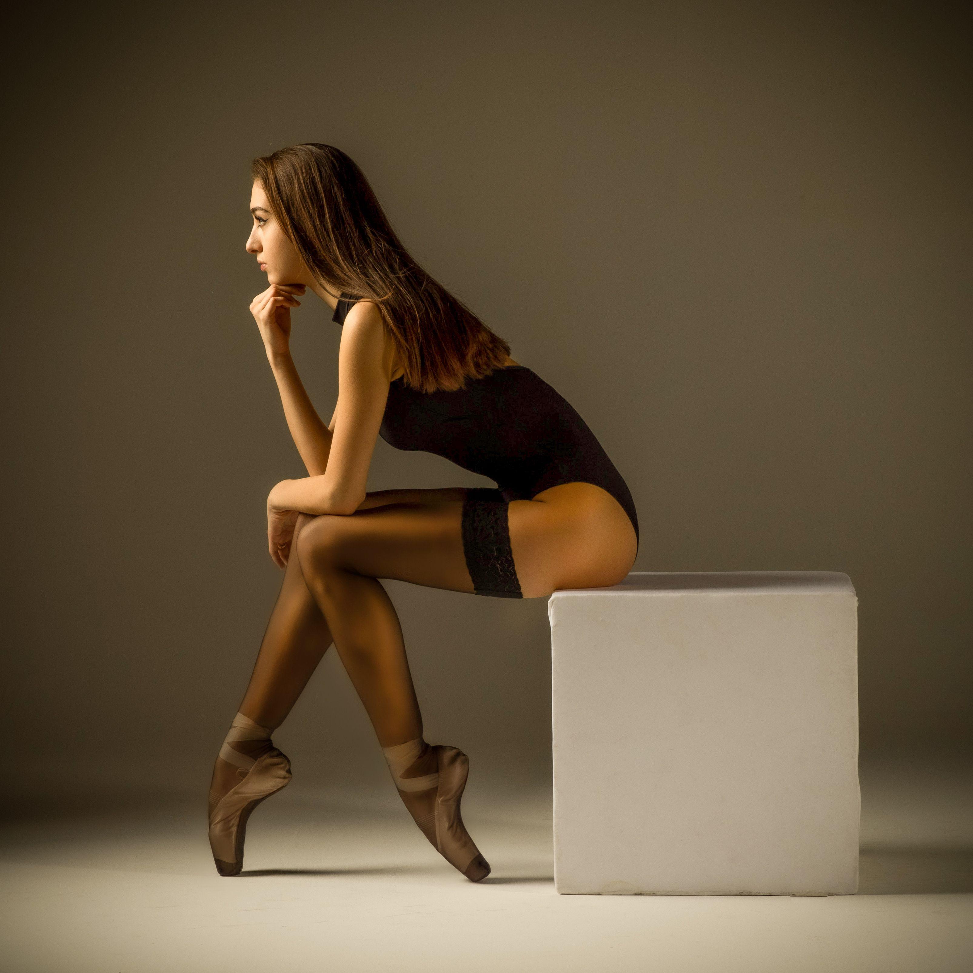 балерина,девушка,красивая,пуанты,портрет,чулки, Дмитрий Александров